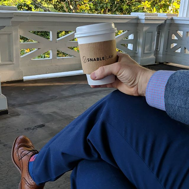First cup on the porch of MY house (well, my office but you understand)!