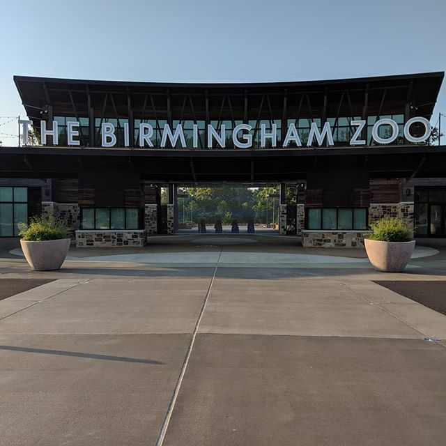 Early morning meeting at the Birmingham Zoo. What a beautiful place!