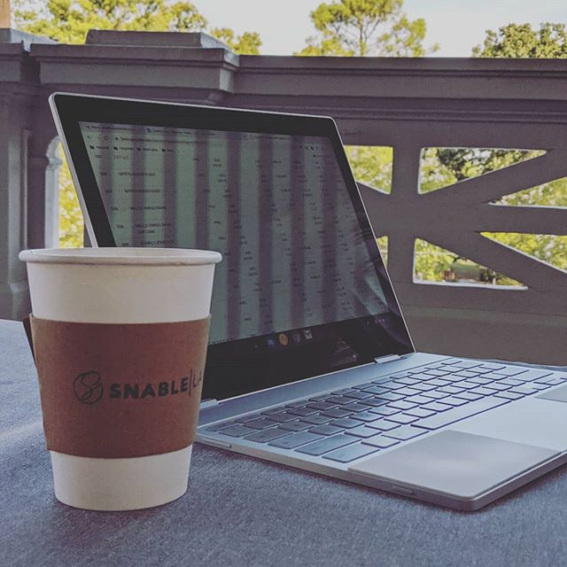 I have relocated my office to the porch in case you need me. What a beautiful Friday!