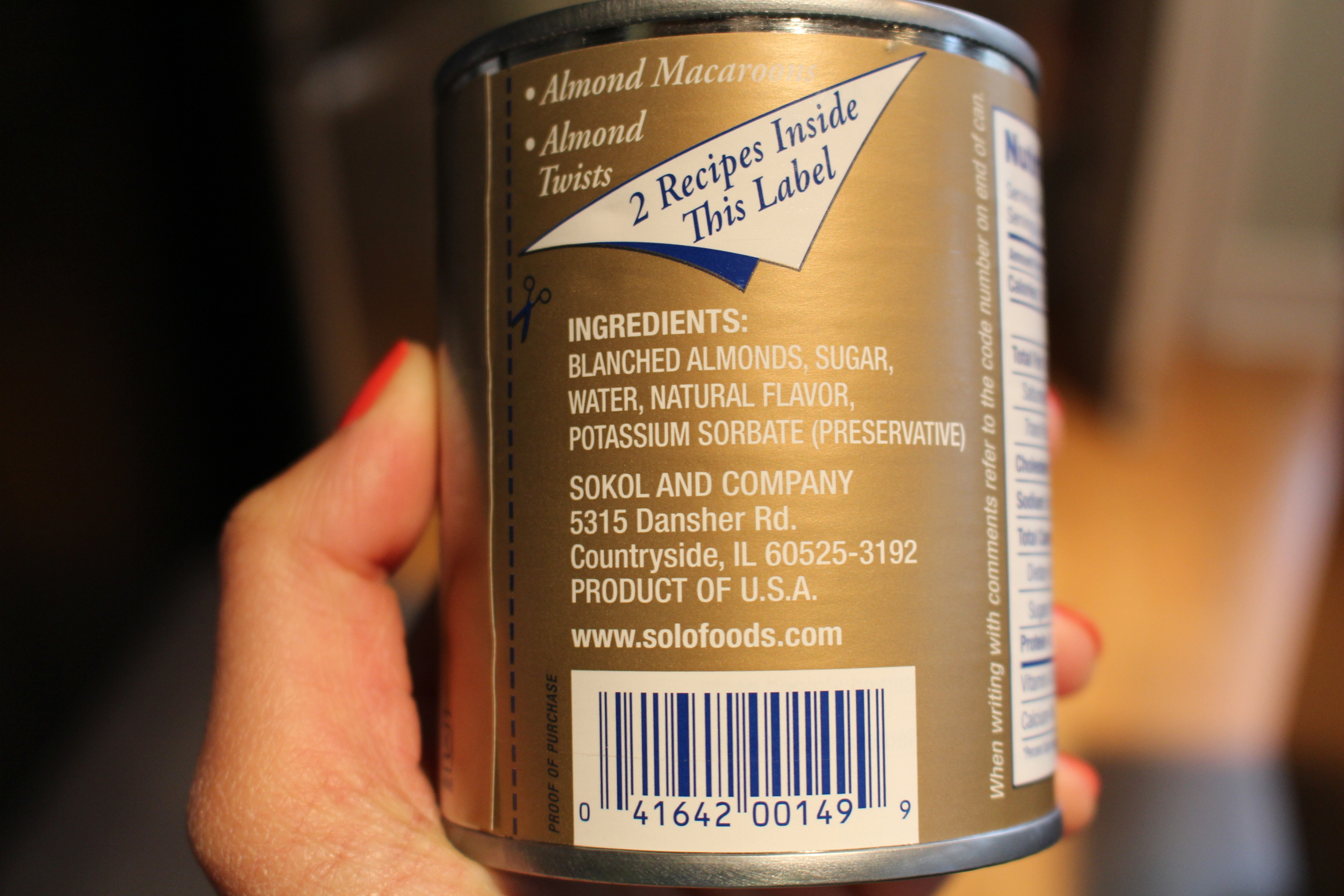 In case you're wondering what exactly Almond paste is!