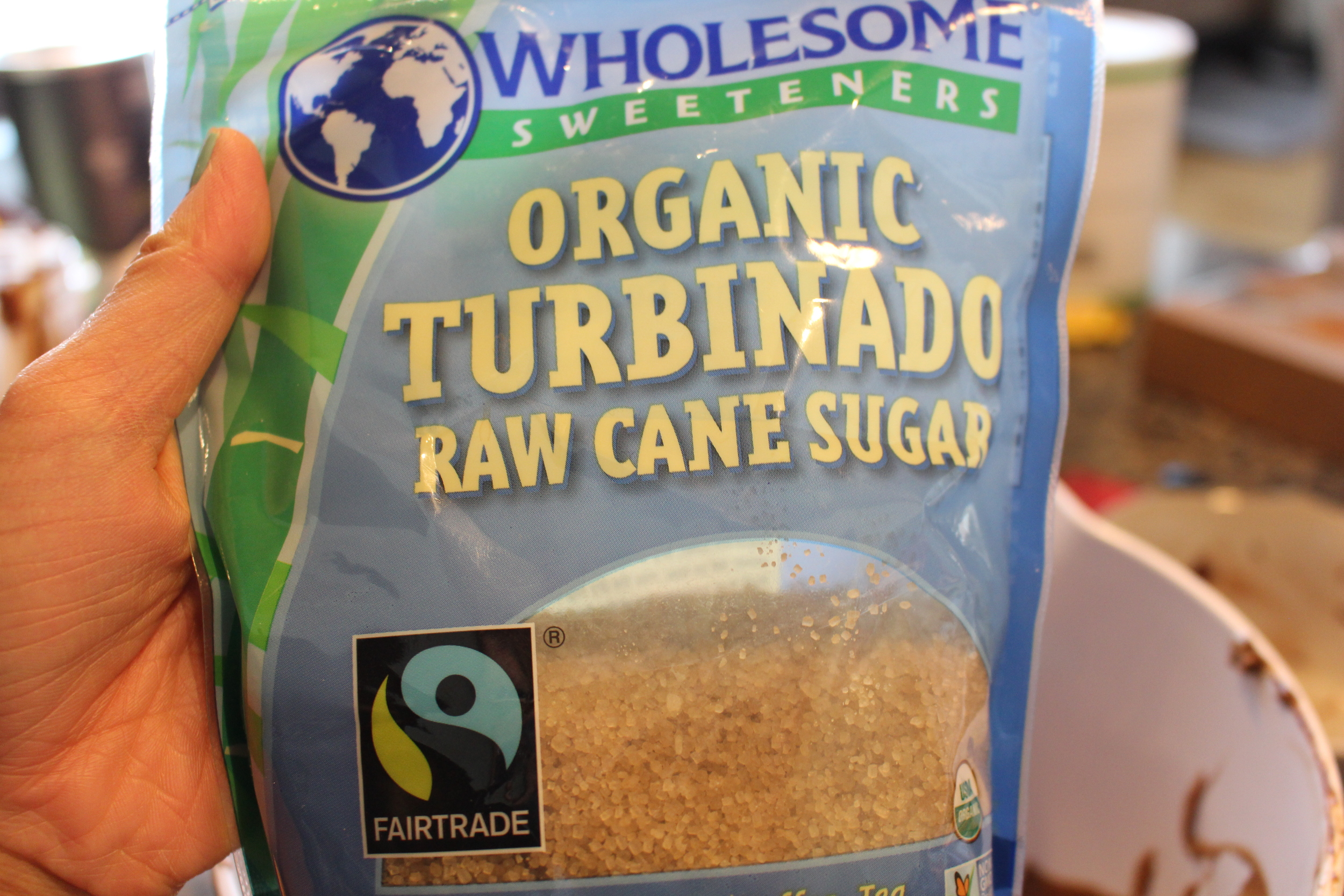 Turbinado sugar is less processed than white granulated sugar.