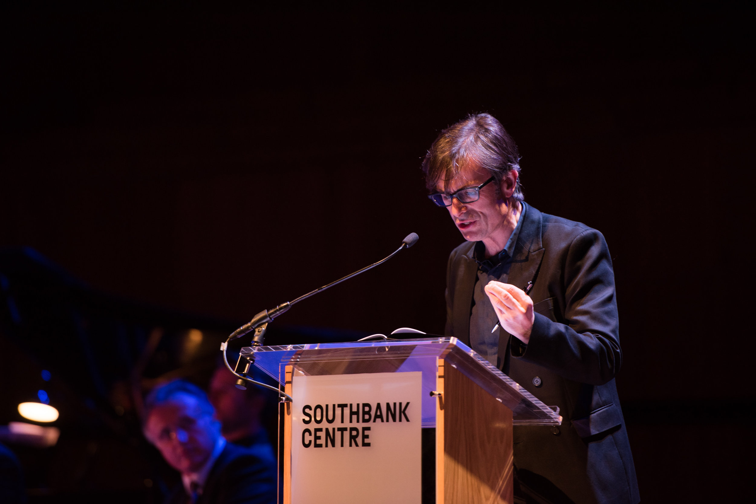 If This is a Man at Southbank Centre's Royal Festival Hall. Robert Peston Photograph © Alice Boagey
