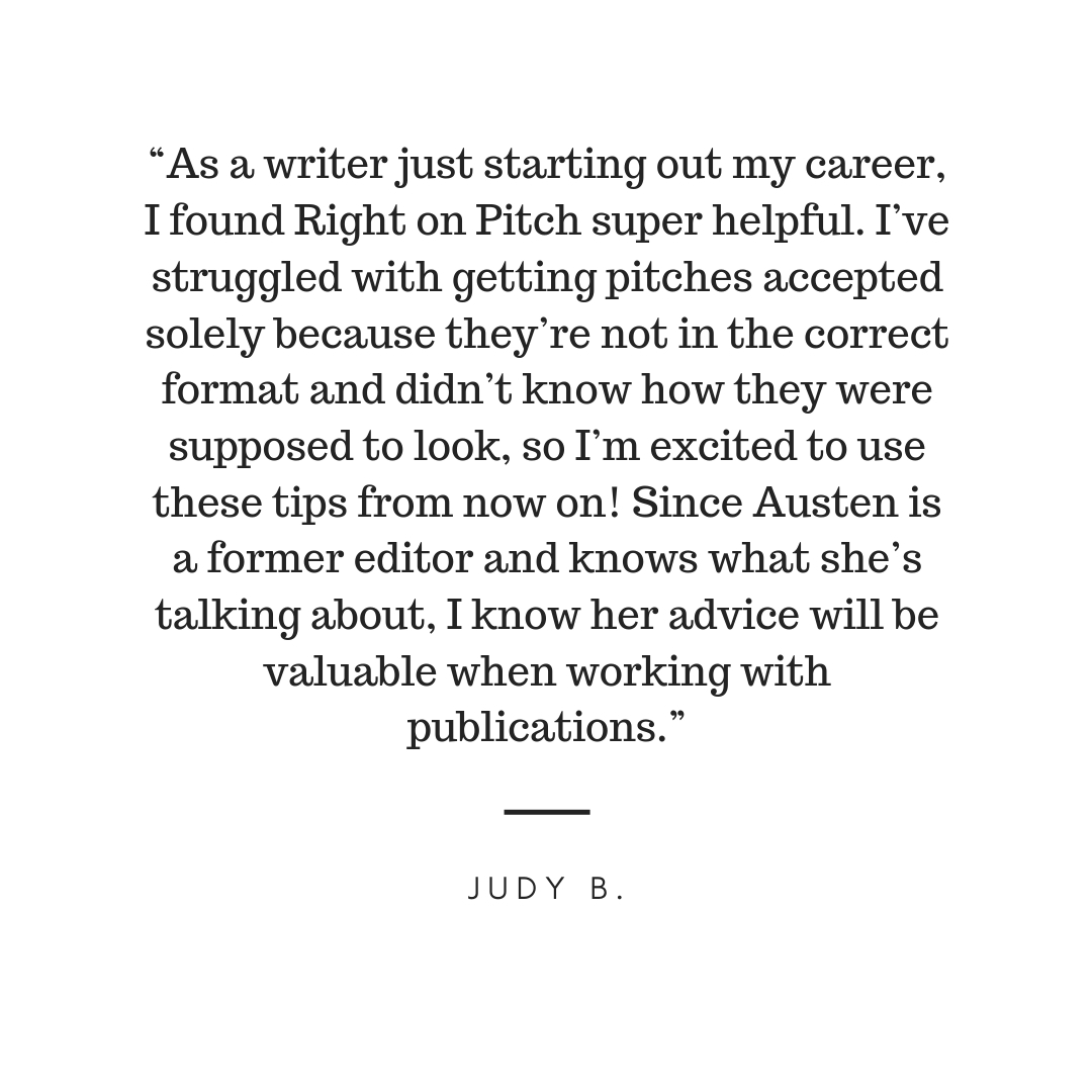 """Right on Pitch is an extremely useful resource for bloggers and freelancers. Austen really knows her stuff and her advice truly helped me personally when it comes to approaching brands and editors. Whether you want -5.jpg"