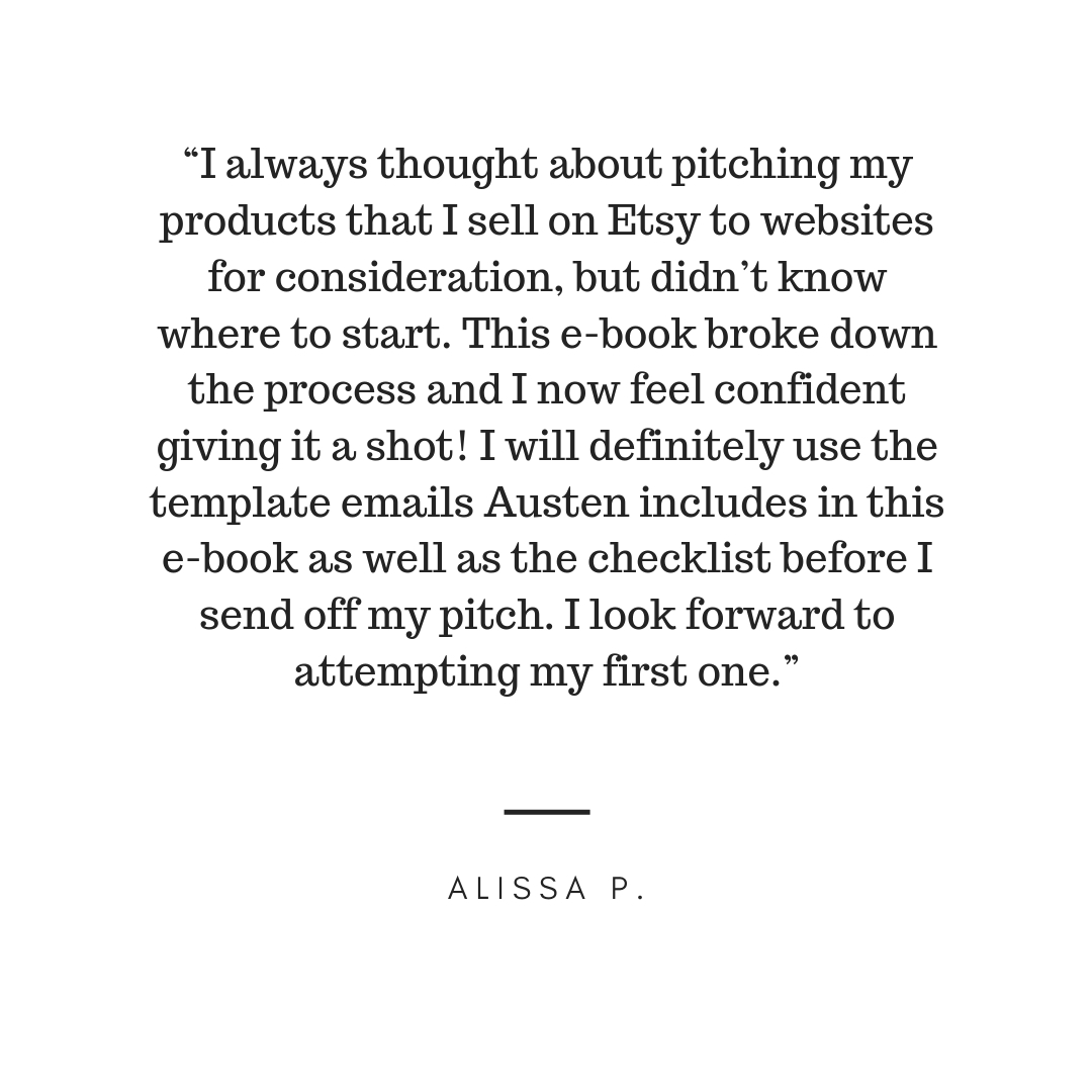 """Right on Pitch is an extremely useful resource for bloggers and freelancers. Austen really knows her stuff and her advice truly helped me personally when it comes to approaching brands and editors. Whether you want -6.jpg"