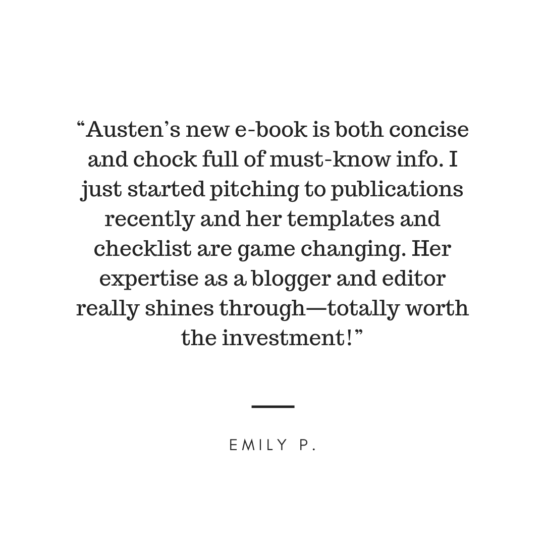 """Right on Pitch is an extremely useful resource for bloggers and freelancers. Austen really knows her stuff and her advice truly helped me personally when it comes to approaching brands and editors. Whether you want -8.jpg"