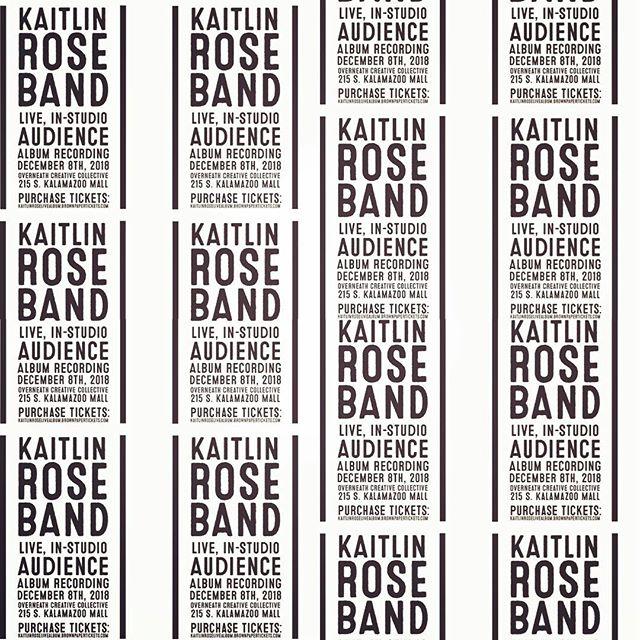 Handbill. @kaitlinrosemusic @overneath_sounds #kalamazoo #localmusic #design #kaitlinrosemusic #peace #love #flowers