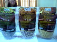 These are U.S. chickpeas, products handled by an import company that Koch visited.