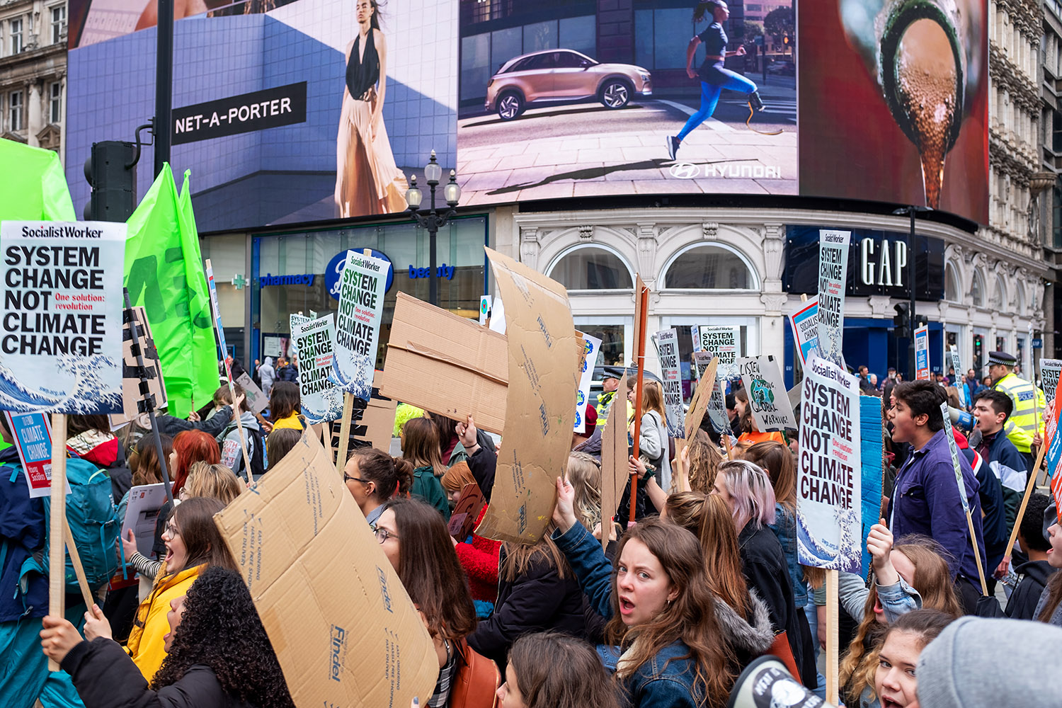 Climate Change protest in London.