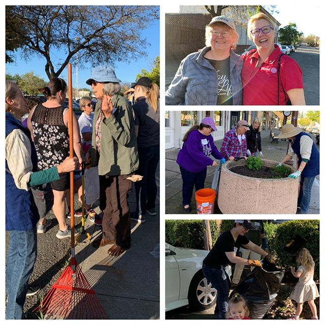 Service Saturday! What an amazing turn out 70+ volunteers thank you so much for making downtown Oroville sparkle & shine once again🌼