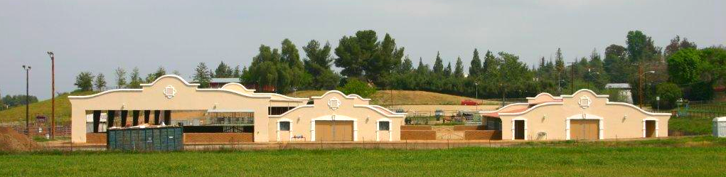 Show Barns and Covered Arena from West