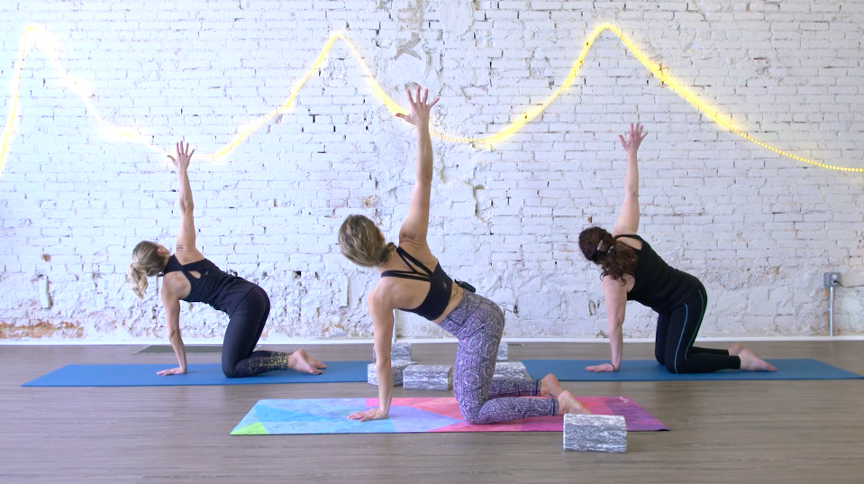 Vinyasa Yoga - Slow down and sync with your breath with this deeply connected yoga practice. Forget how you should look and feel into your flow. [ 2 videos included in pack ]