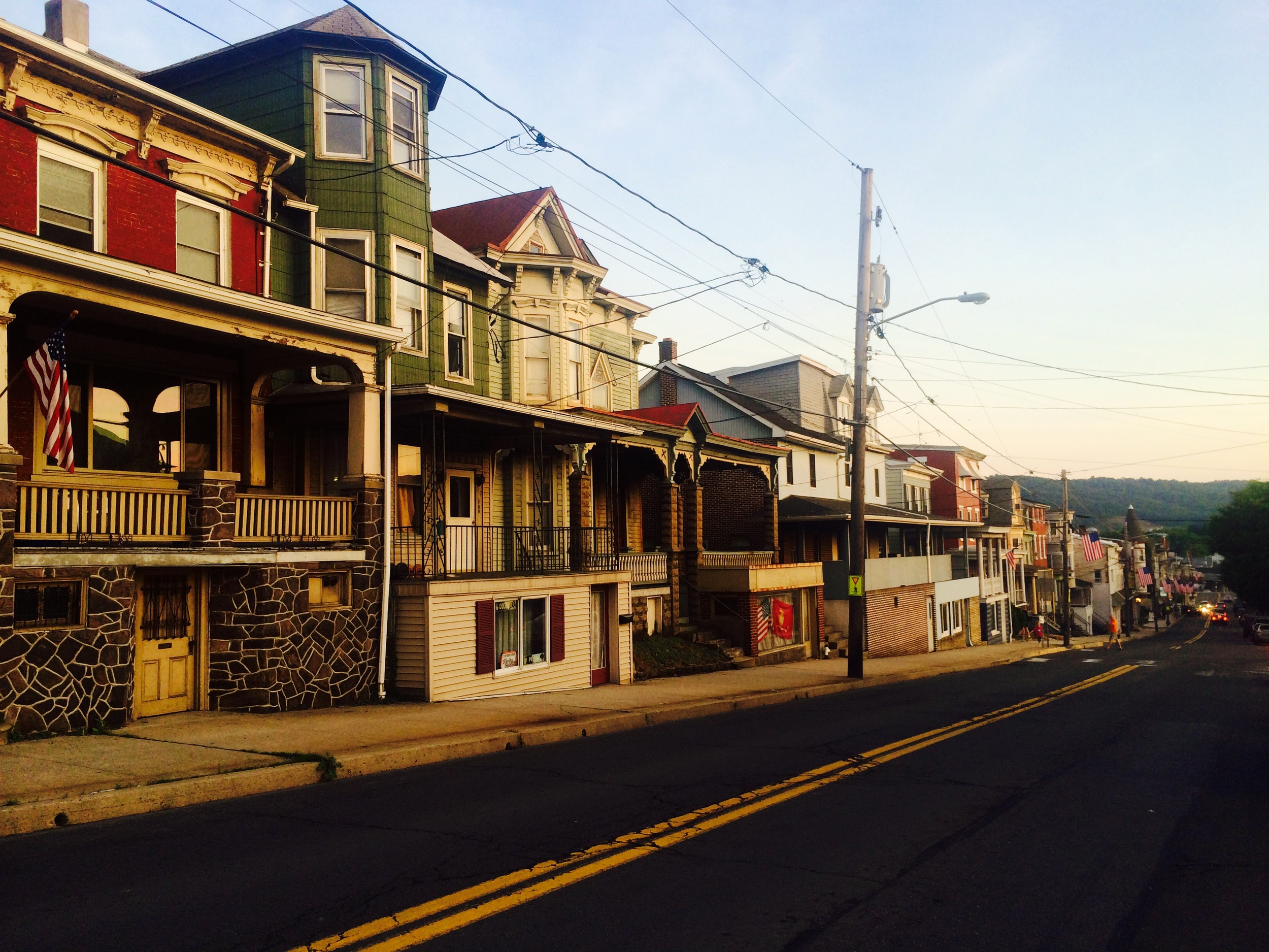 Sunset in Schuykill Haven, PA. It was an adorable town!