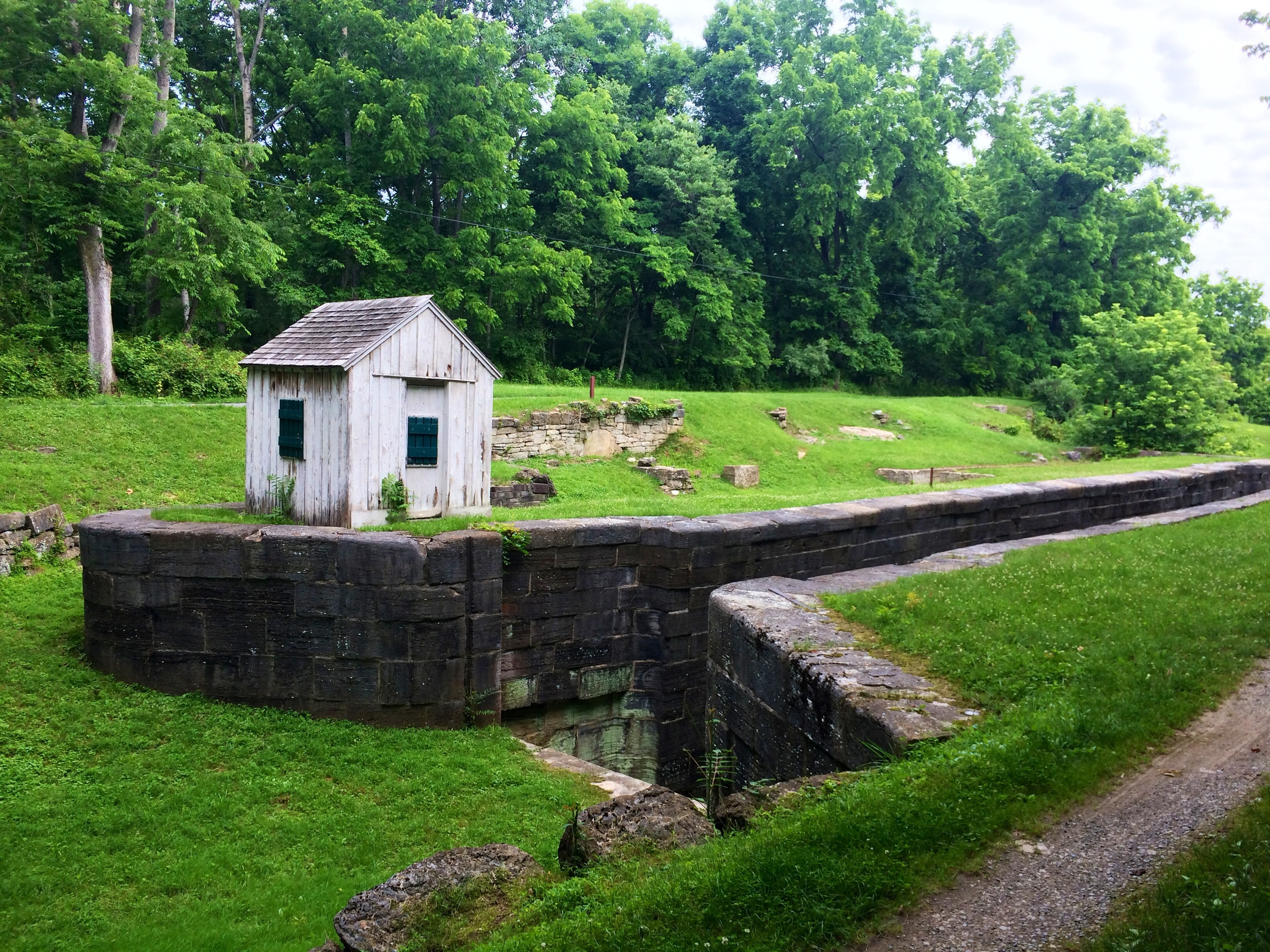 The old canal along the Potomac River