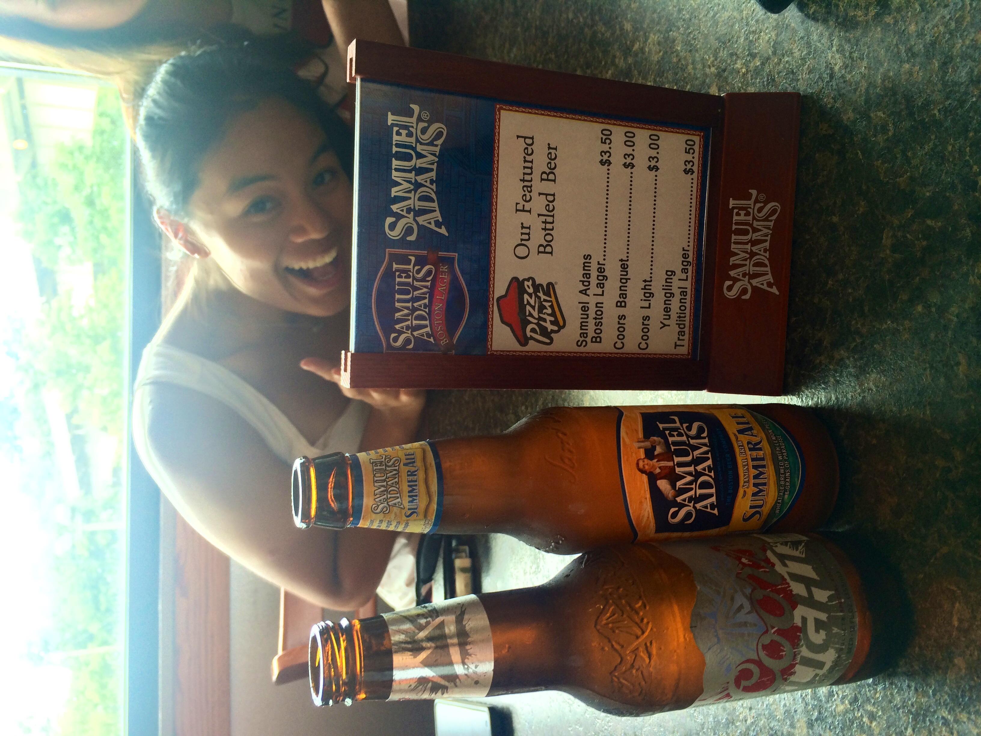 Beer selection at Pizza Hut!