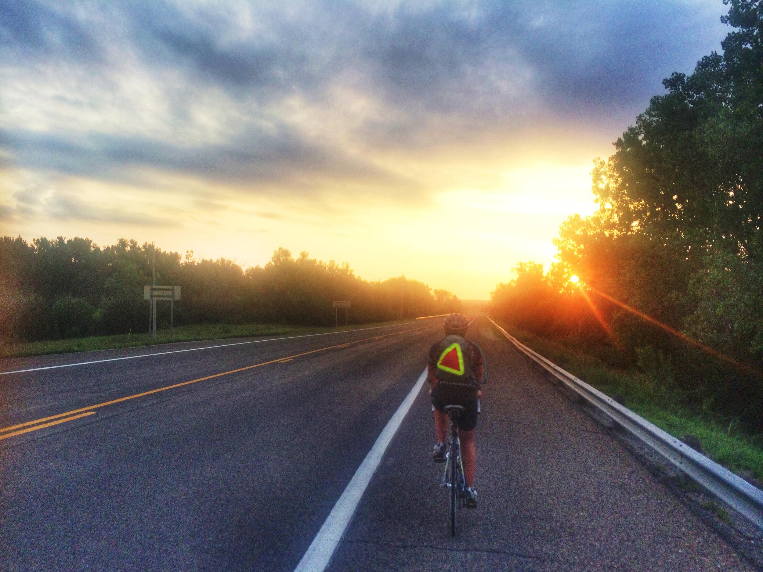 Kansas had the most beautiful sunrises