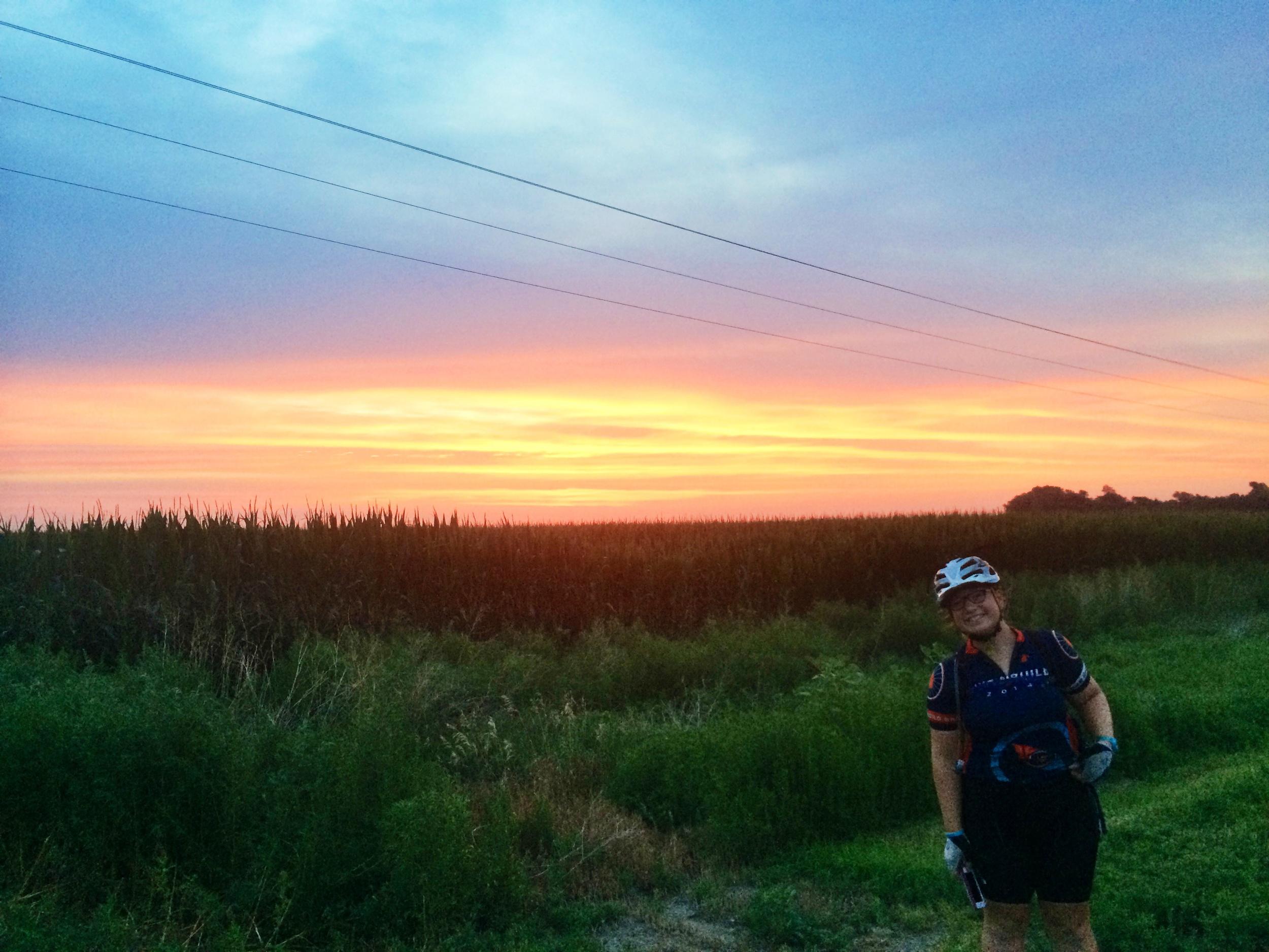 Nebraska has nice sunrises too! My favorite by far. Kaitlyn likes it too!