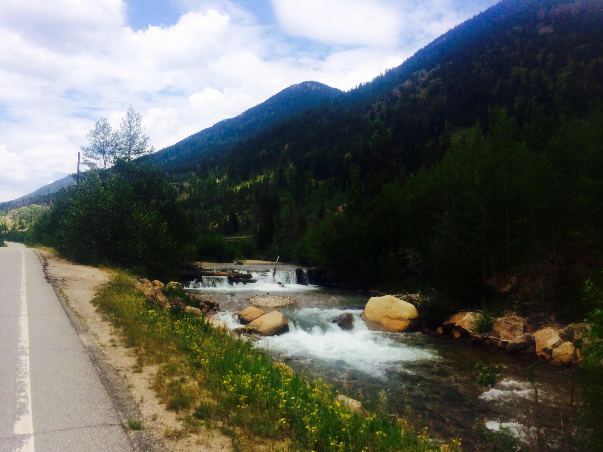 The Colorado River along our bike route!