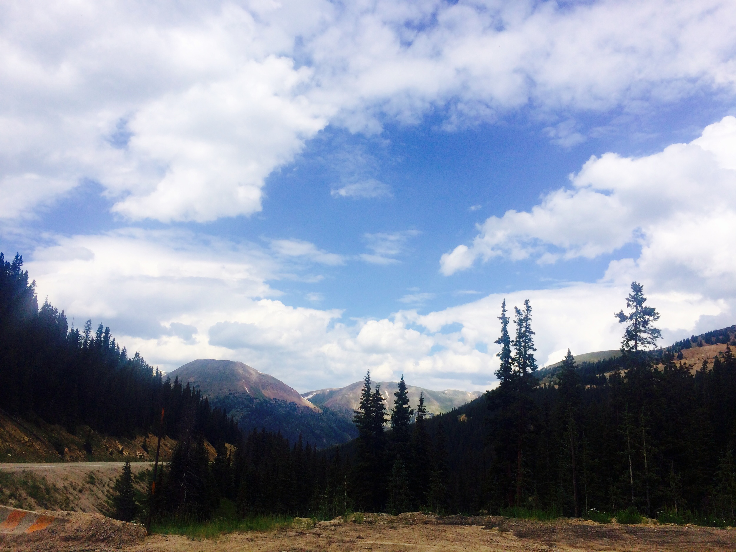 One of our quick breaks on the way up Loveland Pass