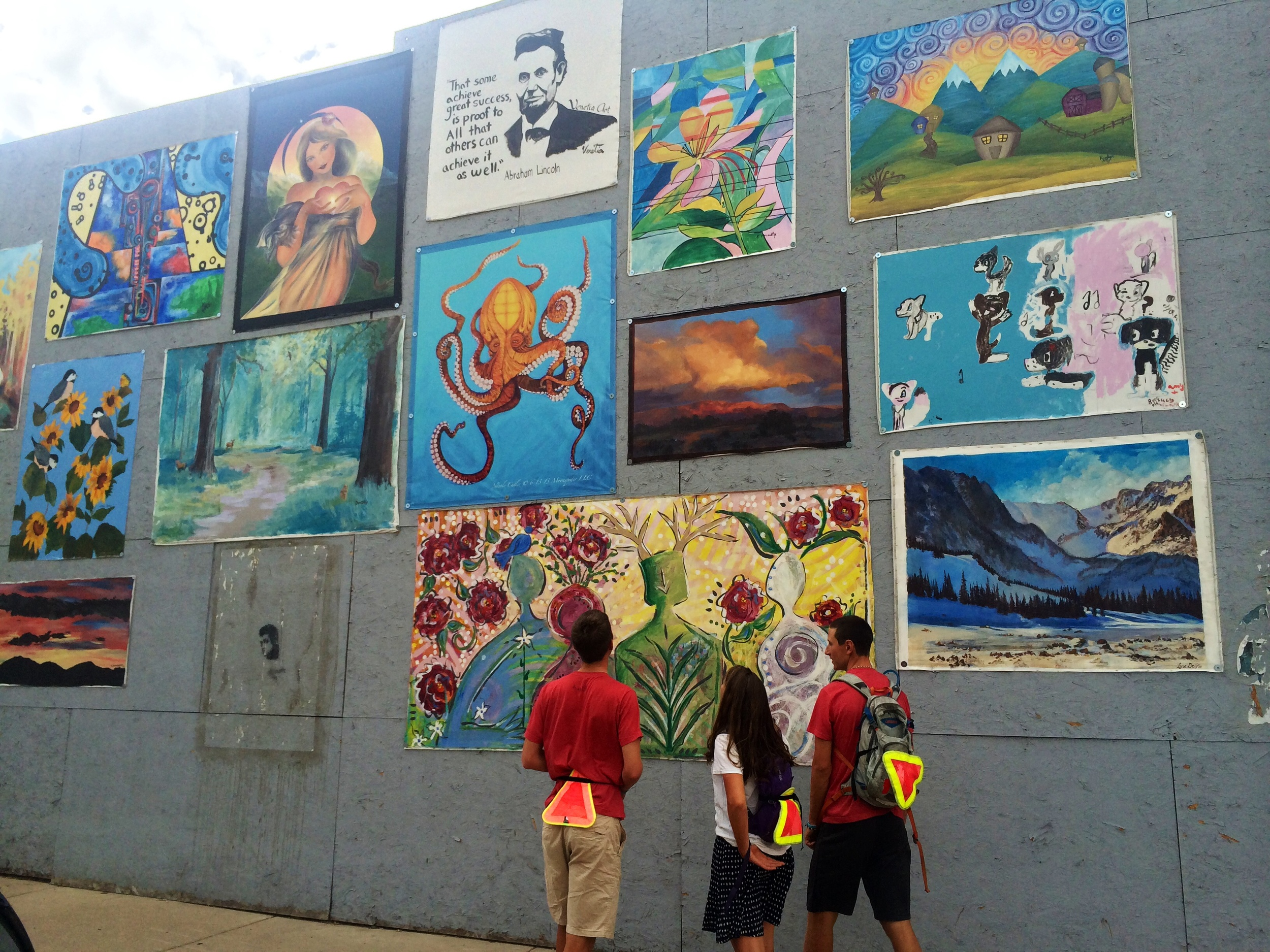 Looking at the public art in Loveland, CO
