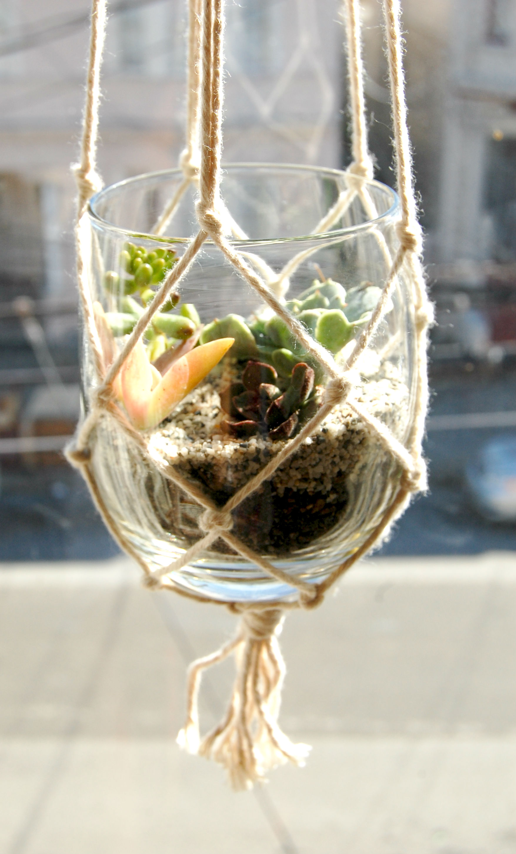 Diy Hanging Succulent Planter Or Candle Holder Recess