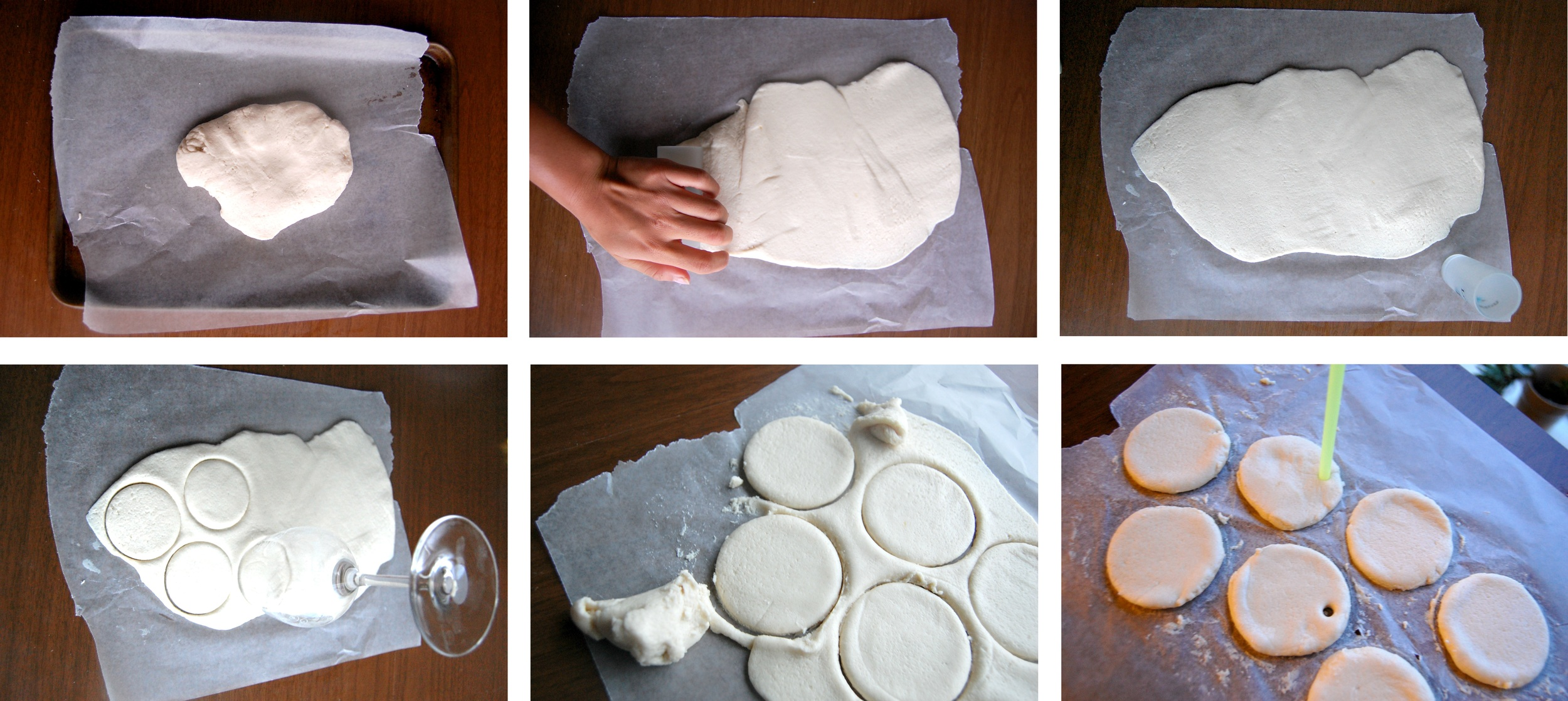 Using Cookie Cutters (or wine glasses!)