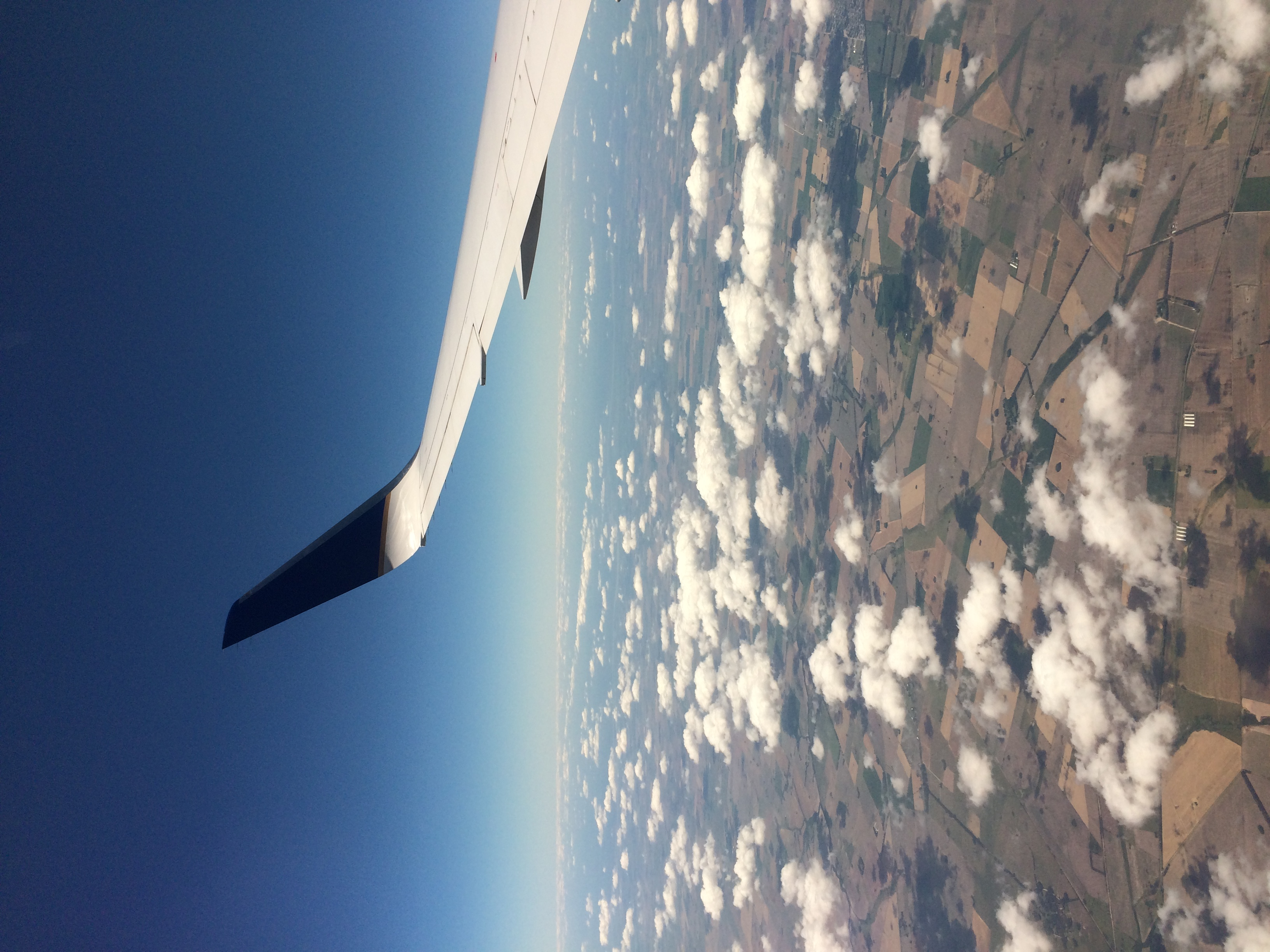 Right before landing in buenos aires