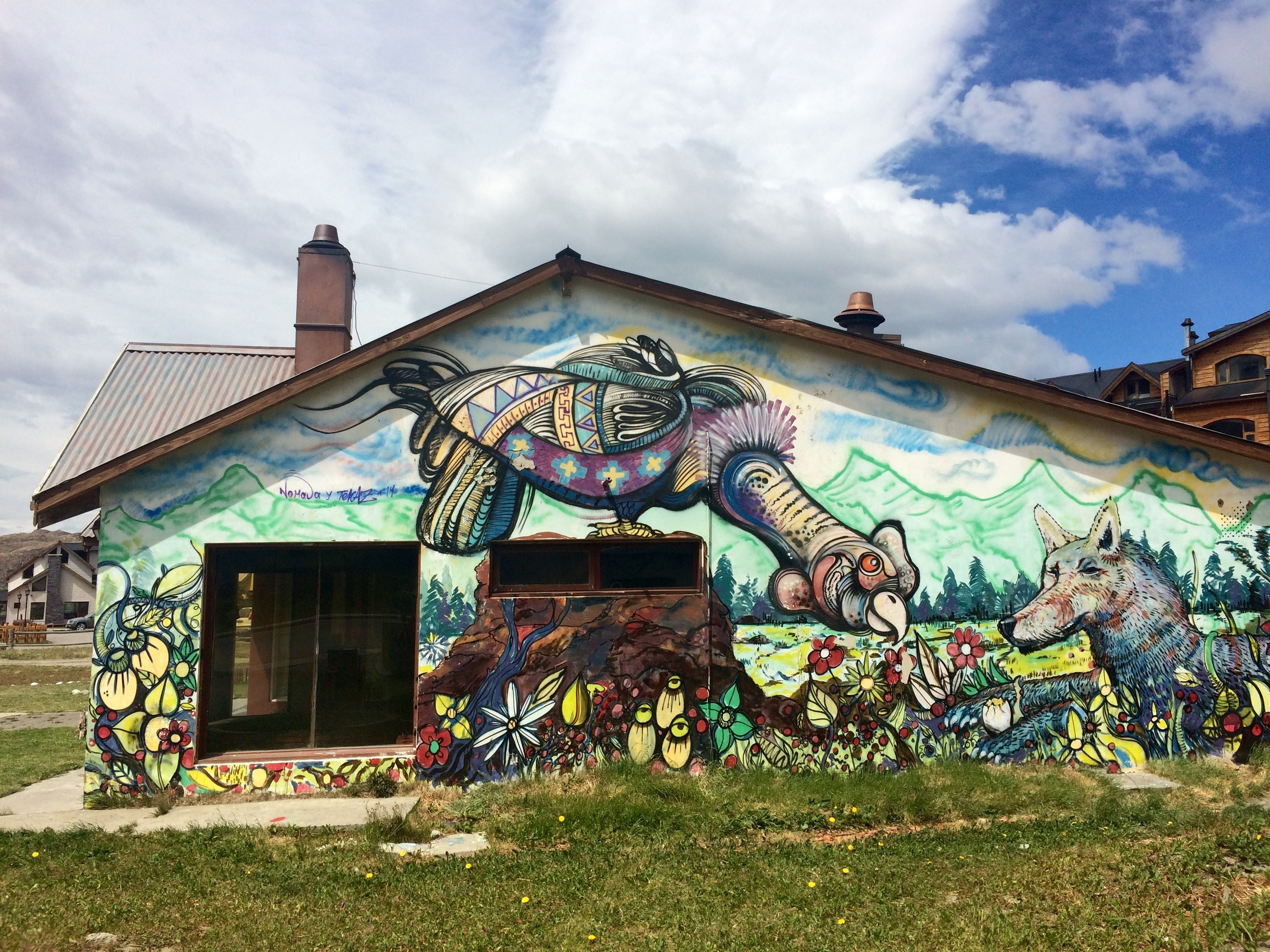 Some local murals - reminds me of the Mission in San Francisco!