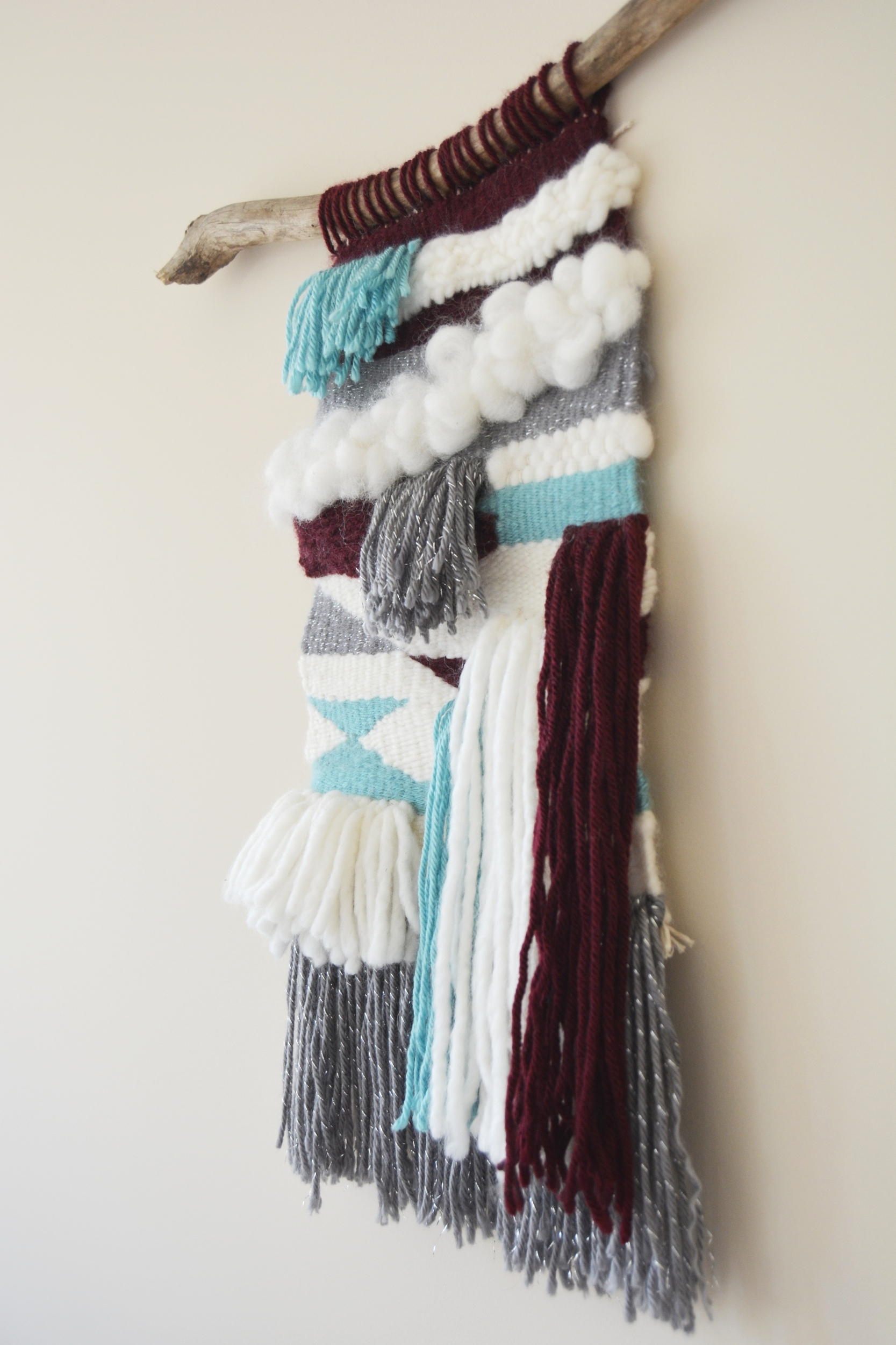 Woven Wall Hanging Tapestry - Side Close