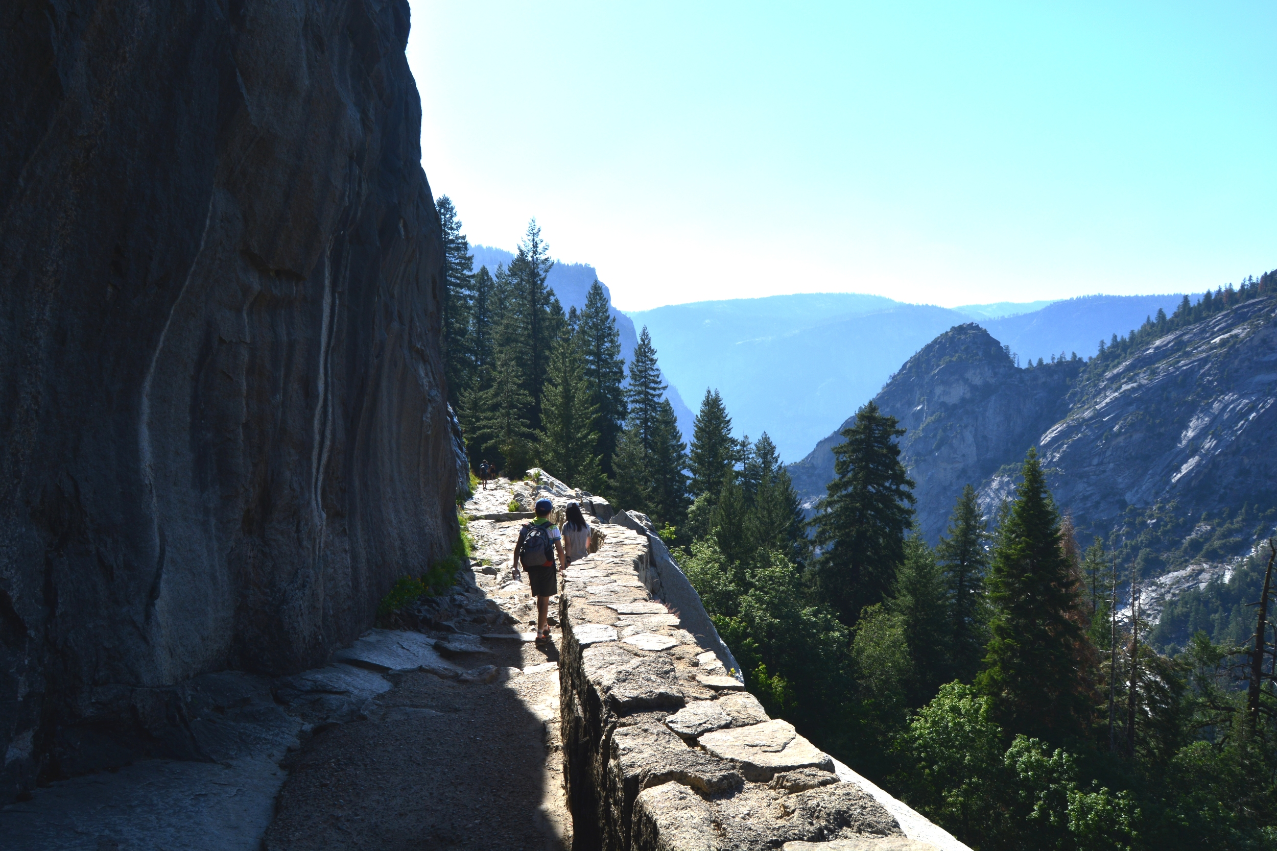 Our cliff-side walk down the John Muir Trail