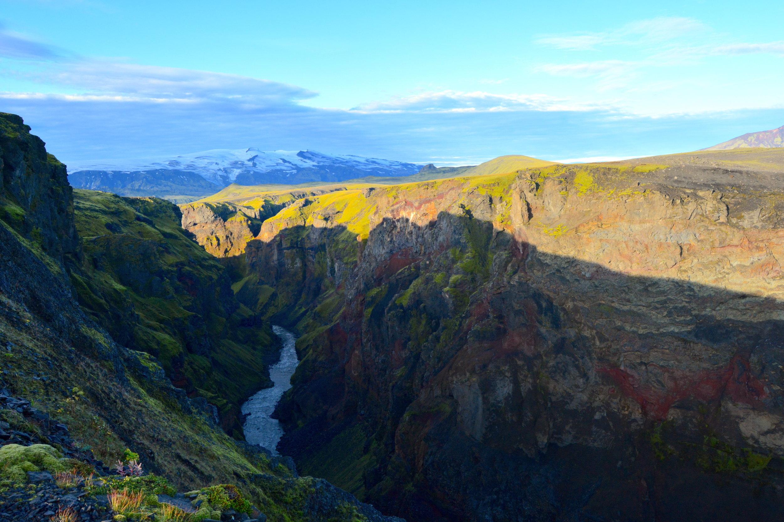 A beautiful, multi-colored gorge near Emstrur