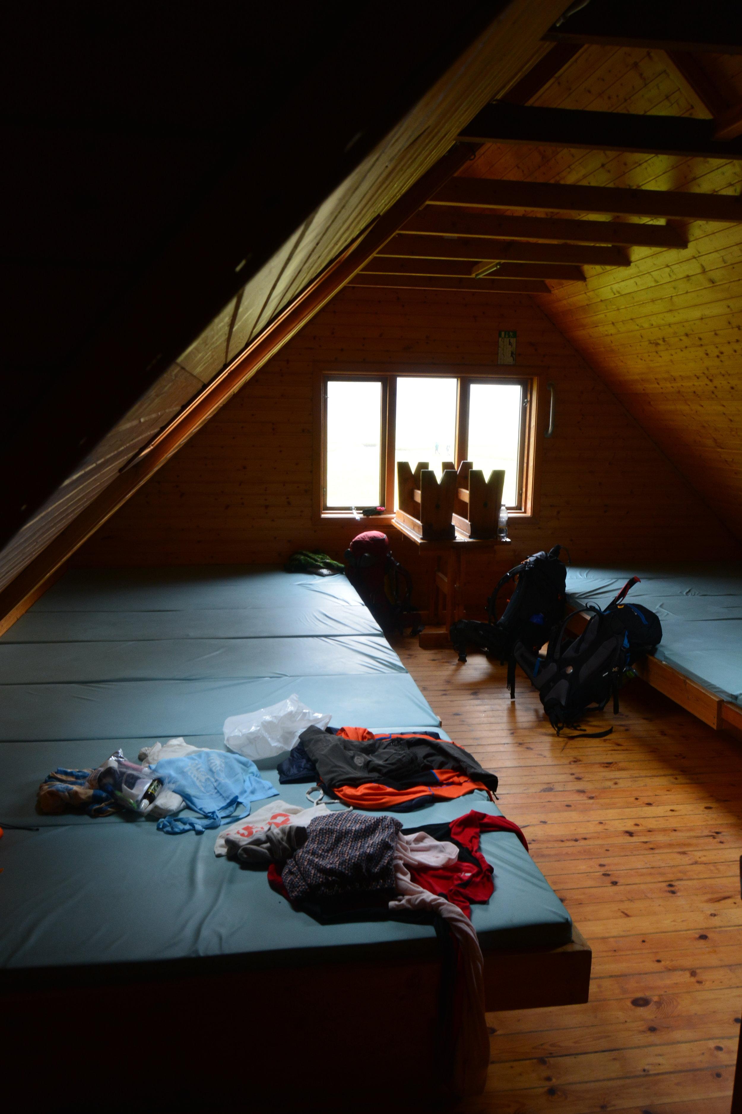 The refugio at Landmannalaugar - packed in like sardines!