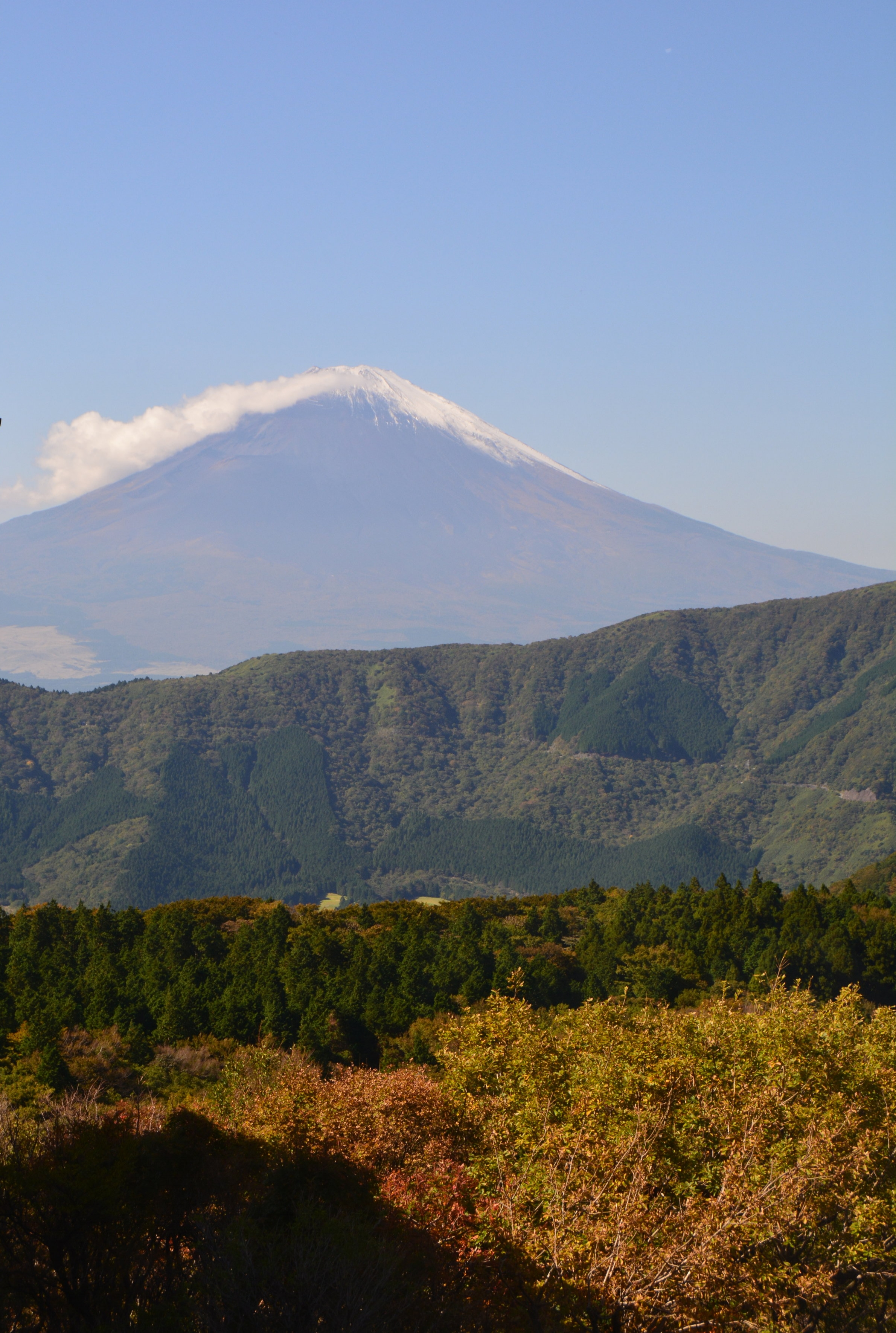 - I was blessed with good weather that allowed me to see Mount Fuji from both Hakone, a small mountain town, and Tokyo.It's usually shrouded in fog, but I got lucky twice!