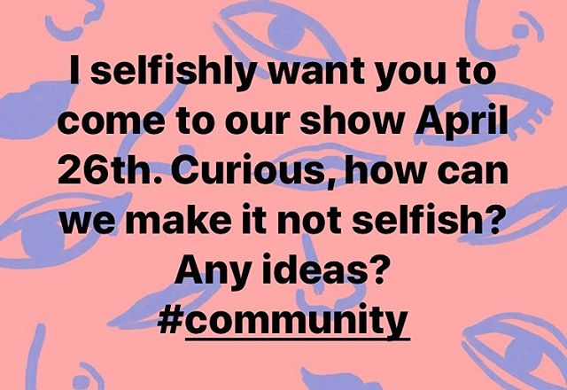 Love to hear ideas on what will make this activity exciting and worthwhile? You know, in addition to sharing amazing music. Let's create something.. 💛