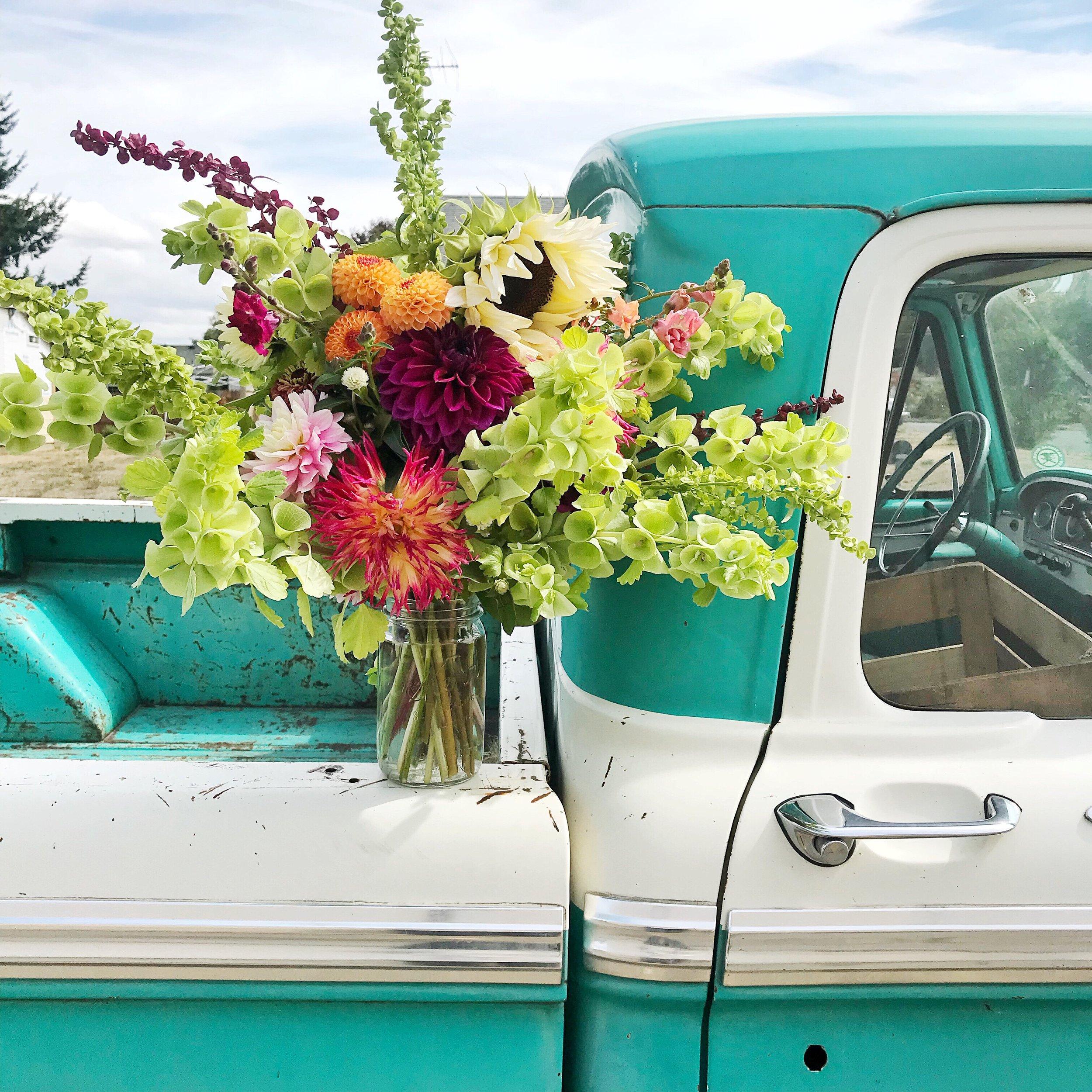 Farm Truck Flowers-Clementine