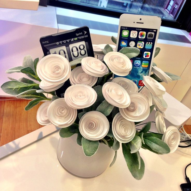 Paper Flowers for Lyve Product Launch