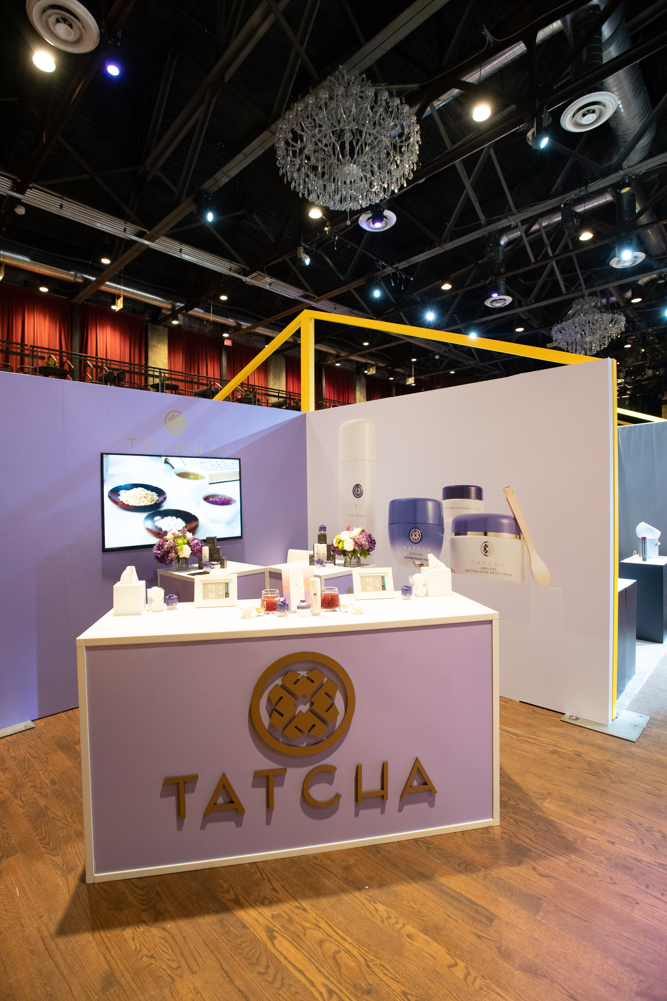 QVC Beauty Bash at The Fillmore, Booth Production for Tatcha. Photo: @DRUF