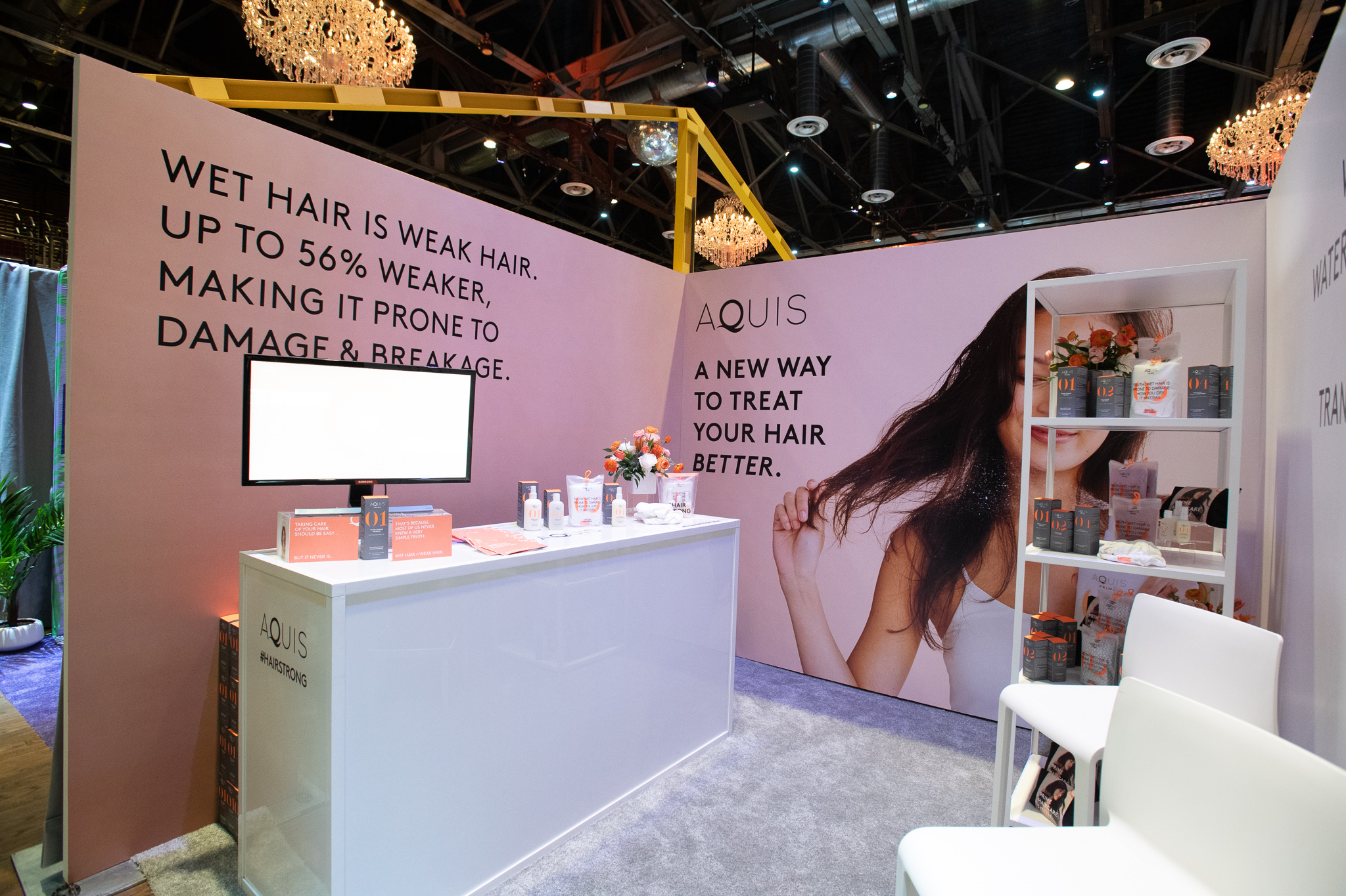 QVC Beauty Bash at The Fillmore, Booth Production for Aquis. Photo: @DRUF