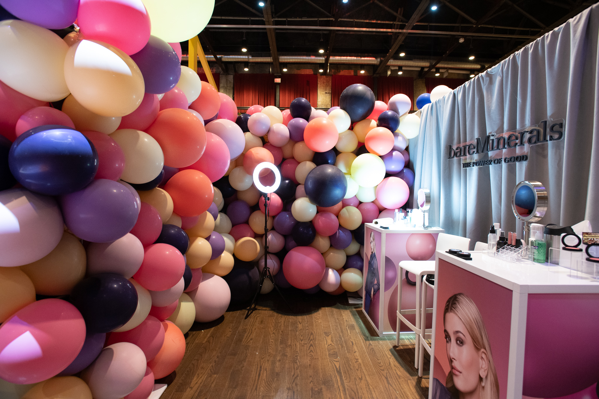 QVC Beauty Bash at The Fillmore, Booth Production for bareMinerals. Photo: @DRUF