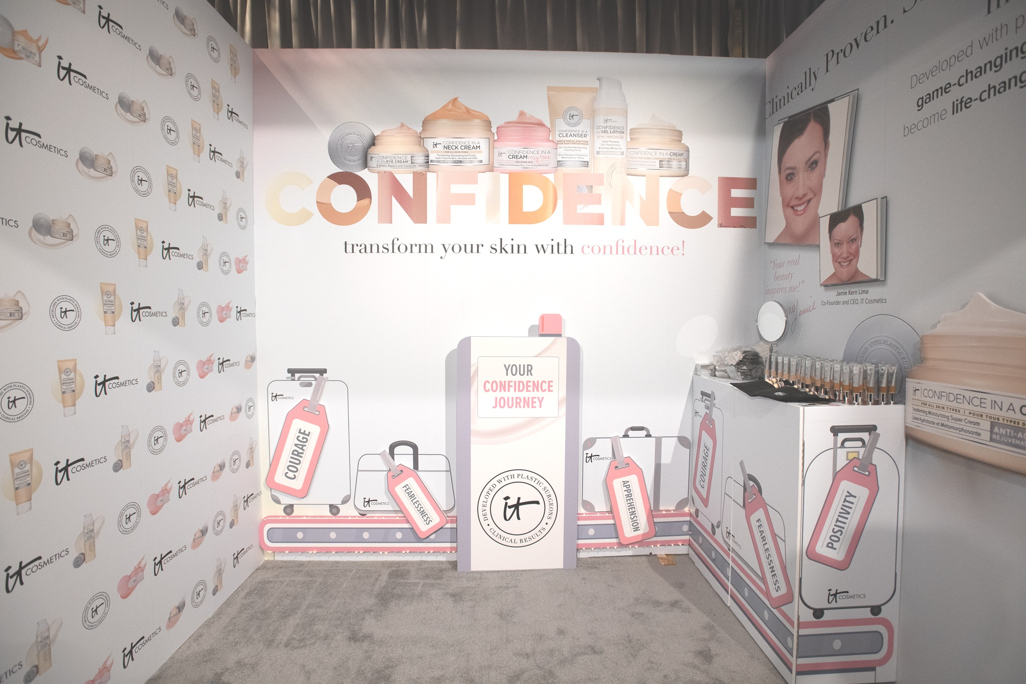QVC Beauty Bash at The Fillmore, Booth Production for IT Cosmetics. Photo: @DRUF