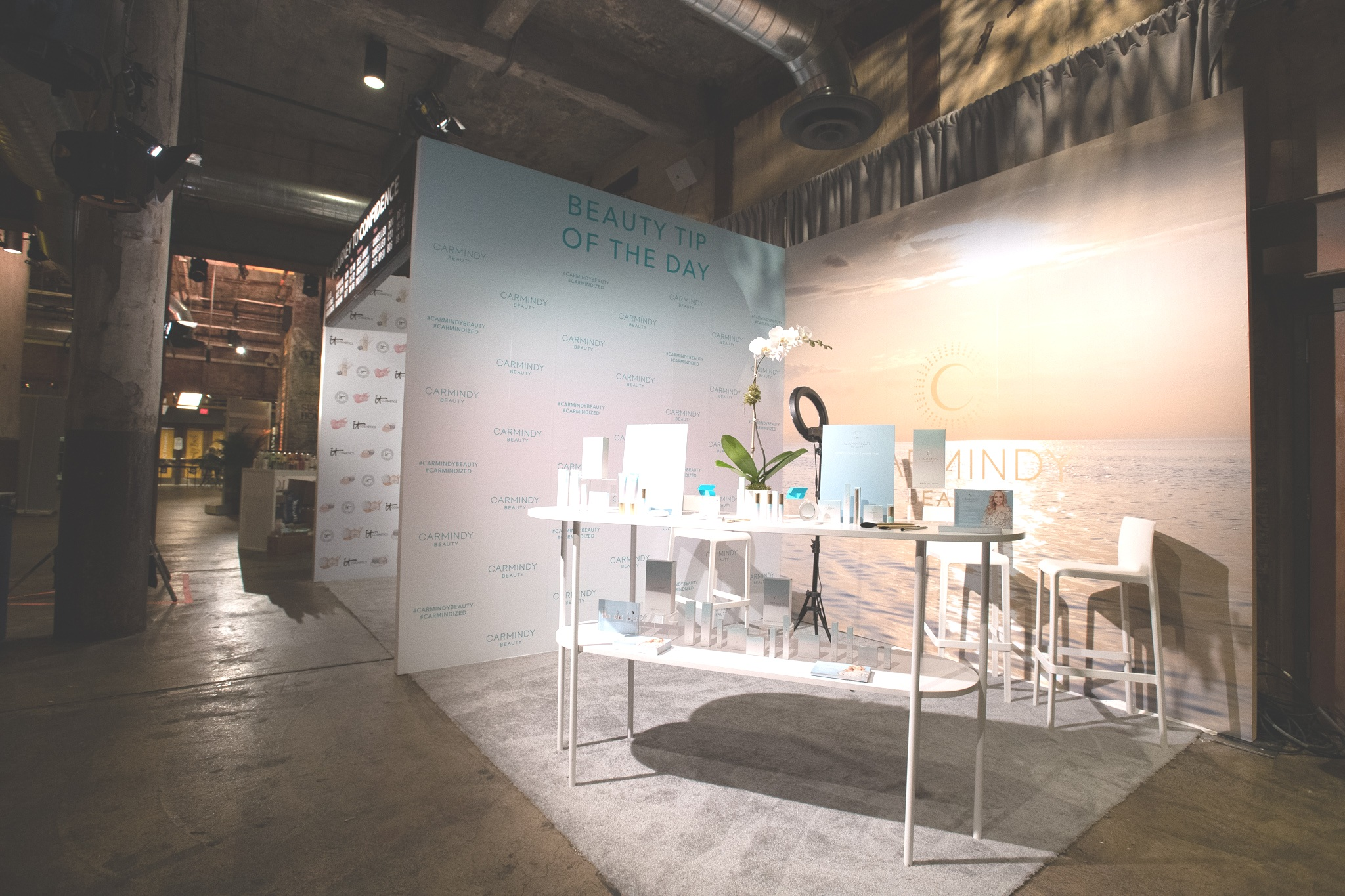 QVC Beauty Bash at The Fillmore, Booth Production for Carmindy. Photo: @DRUF