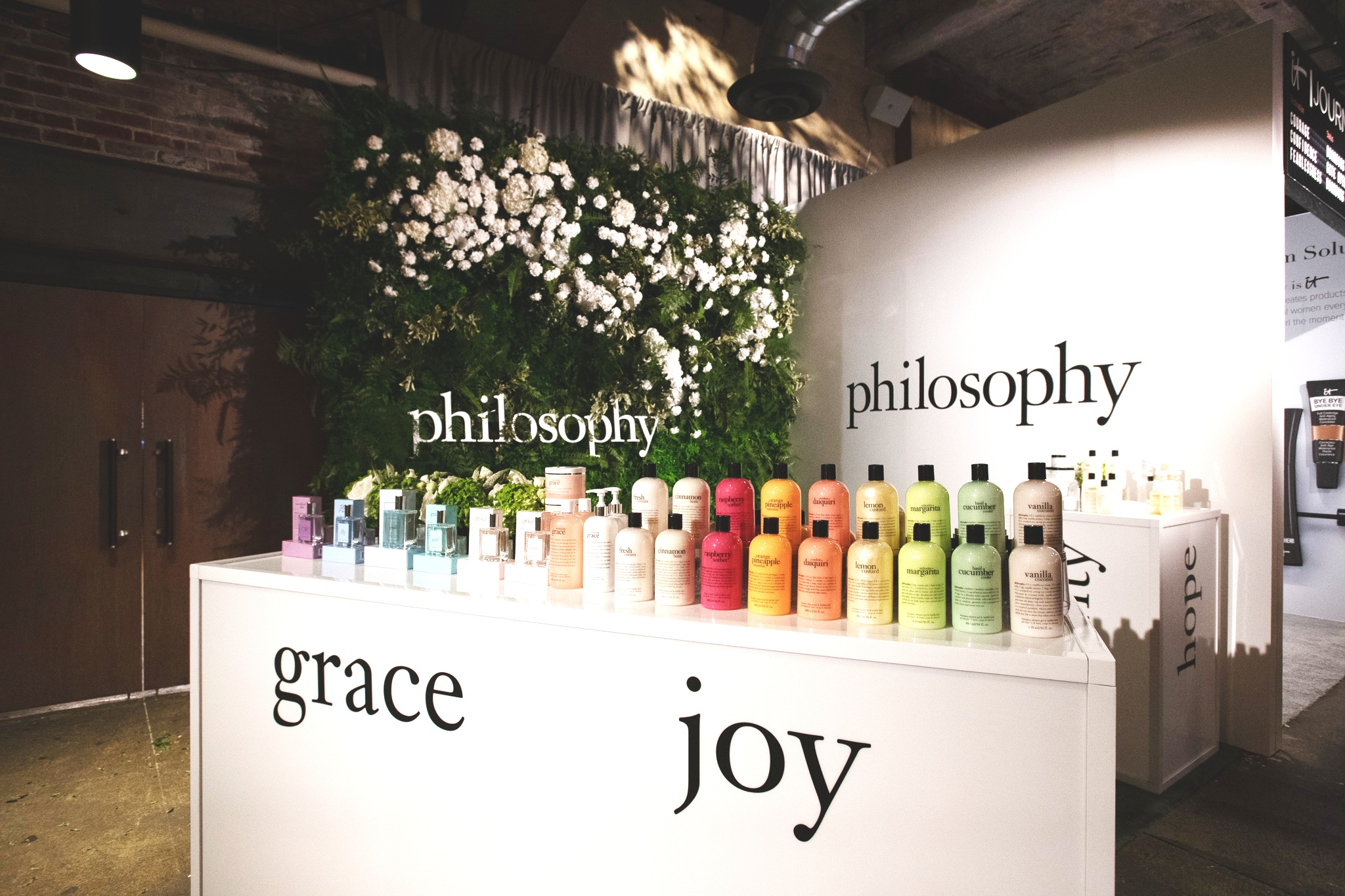 QVC Beauty Bash at The Fillmore, Booth Production for Philosophy. Photo: @DRUF
