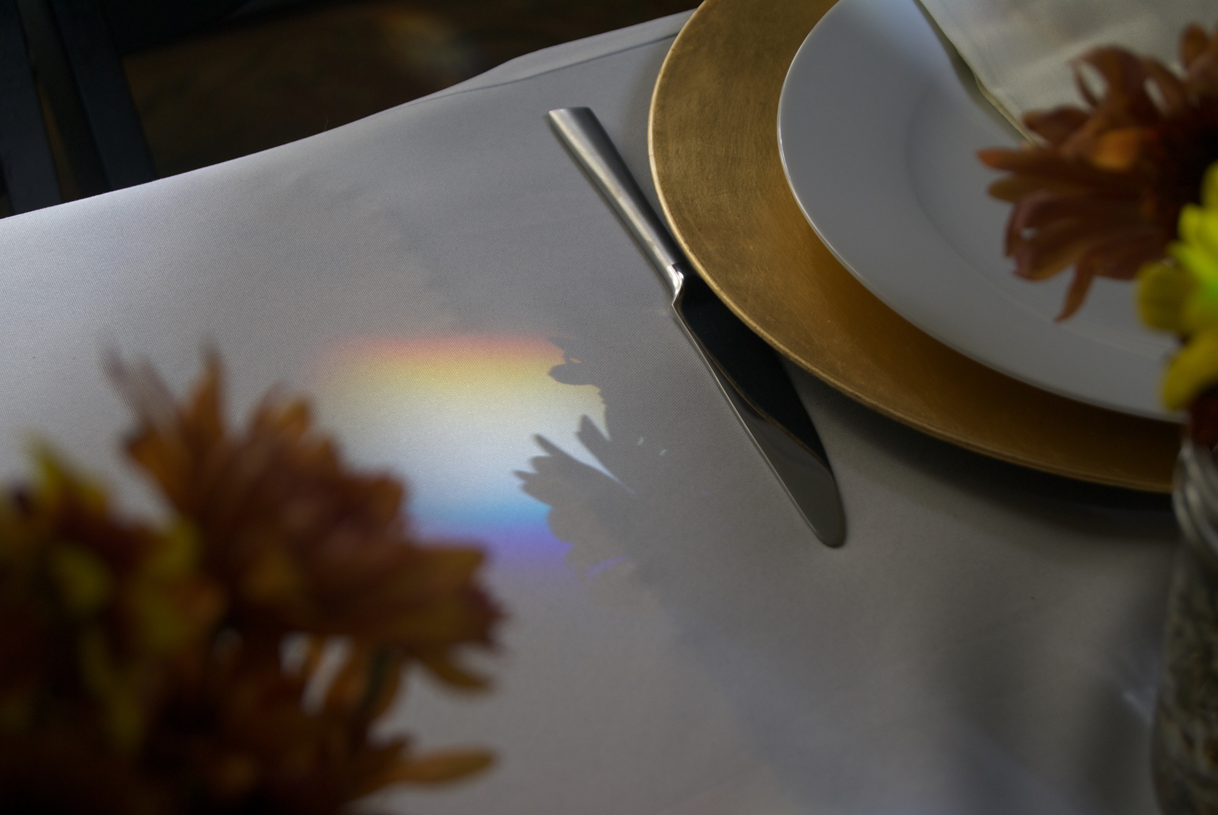 Rainbows on the dinner table
