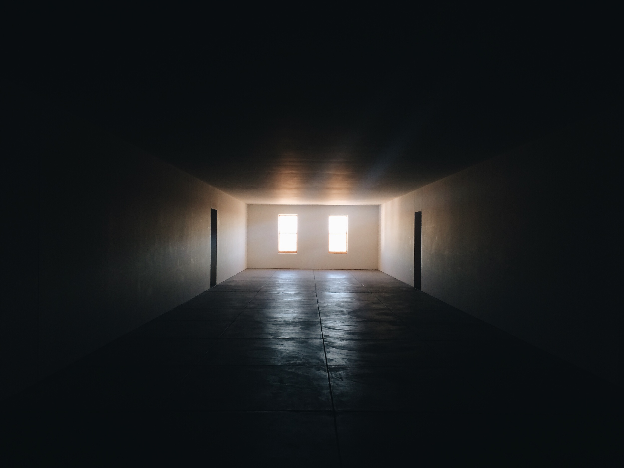 Dan Flavin's light sculptures at Chinati Foundation in Marfa, TX