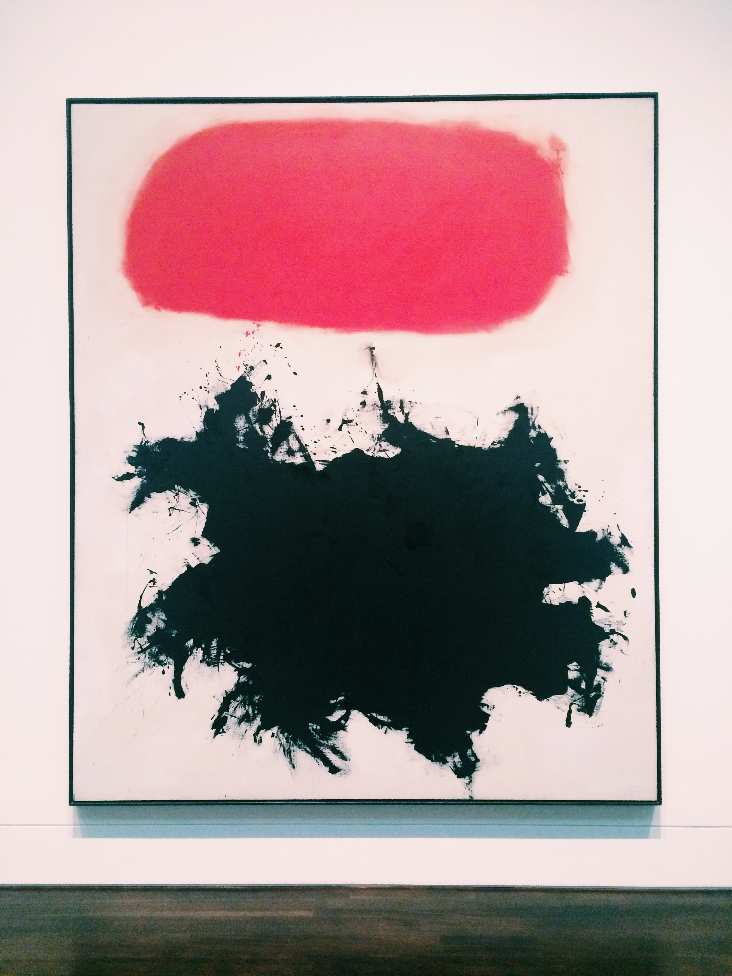 Adolph Gottlieb's 'Cadmium Red Above Black' at the Blanton Museum of Art in Austin, TX