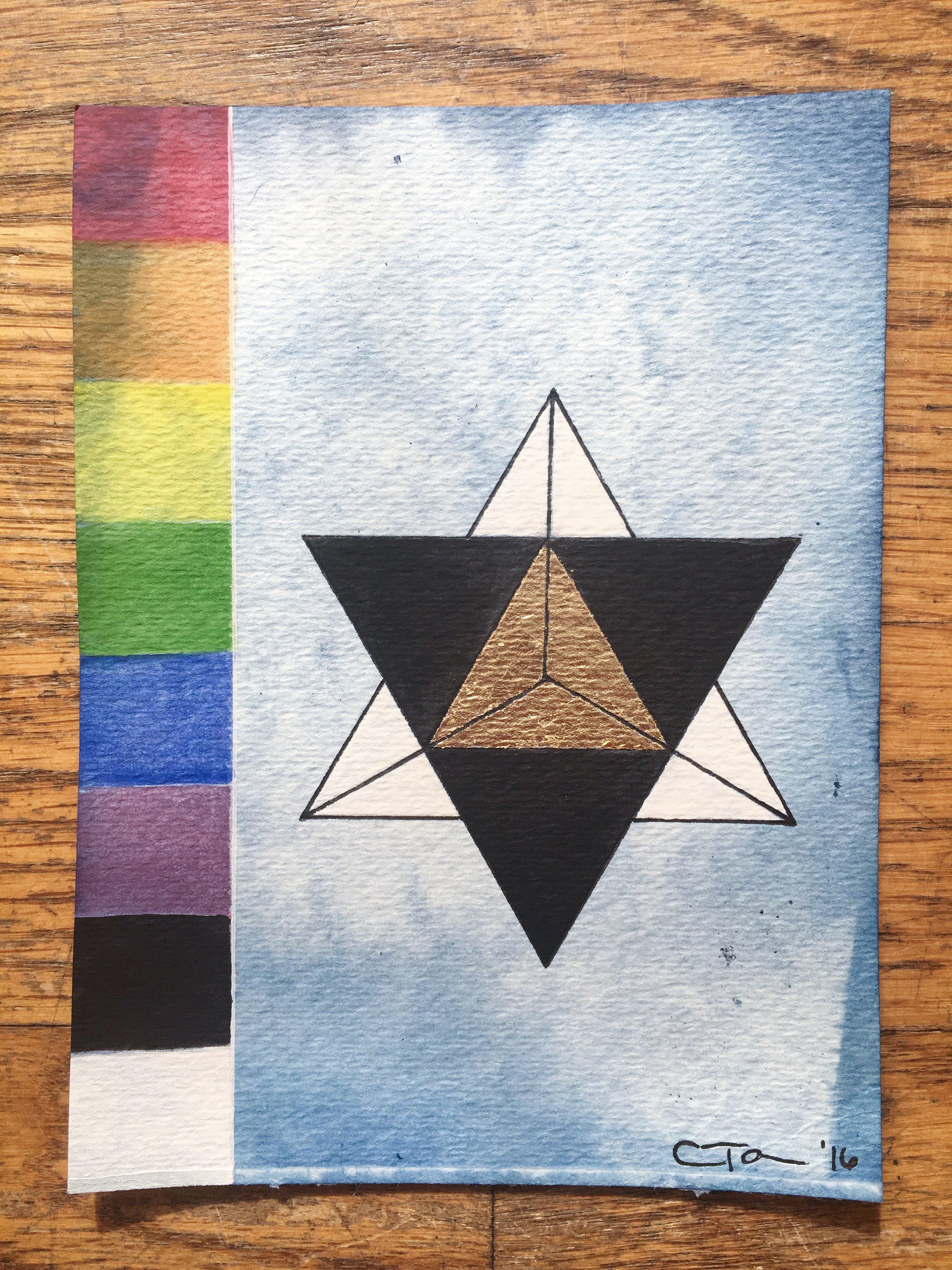 Rainbow Geometry Variation of Star Tetrahedron