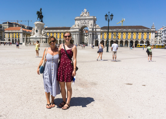 Maia and me in Lisbon, Portugal