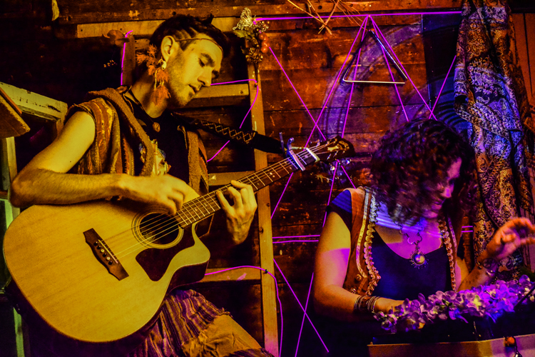 William Moon & Christina Enigma of Ky∆zMa. Photo credit: Mikel Marton