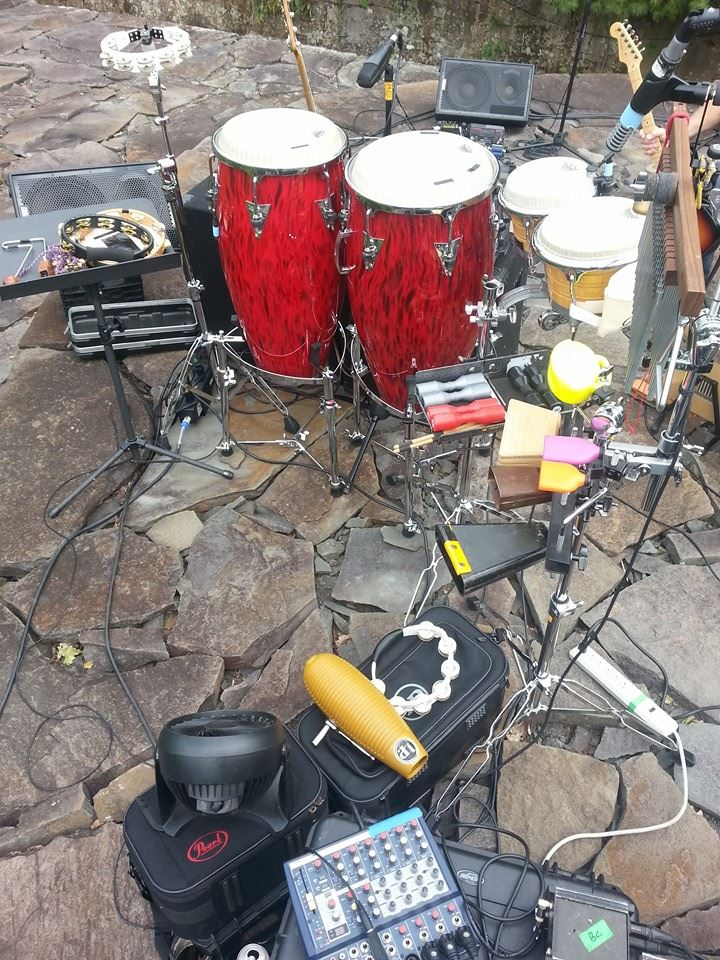 Percussion rig at Opus40 in Woodstock NY with Orleans