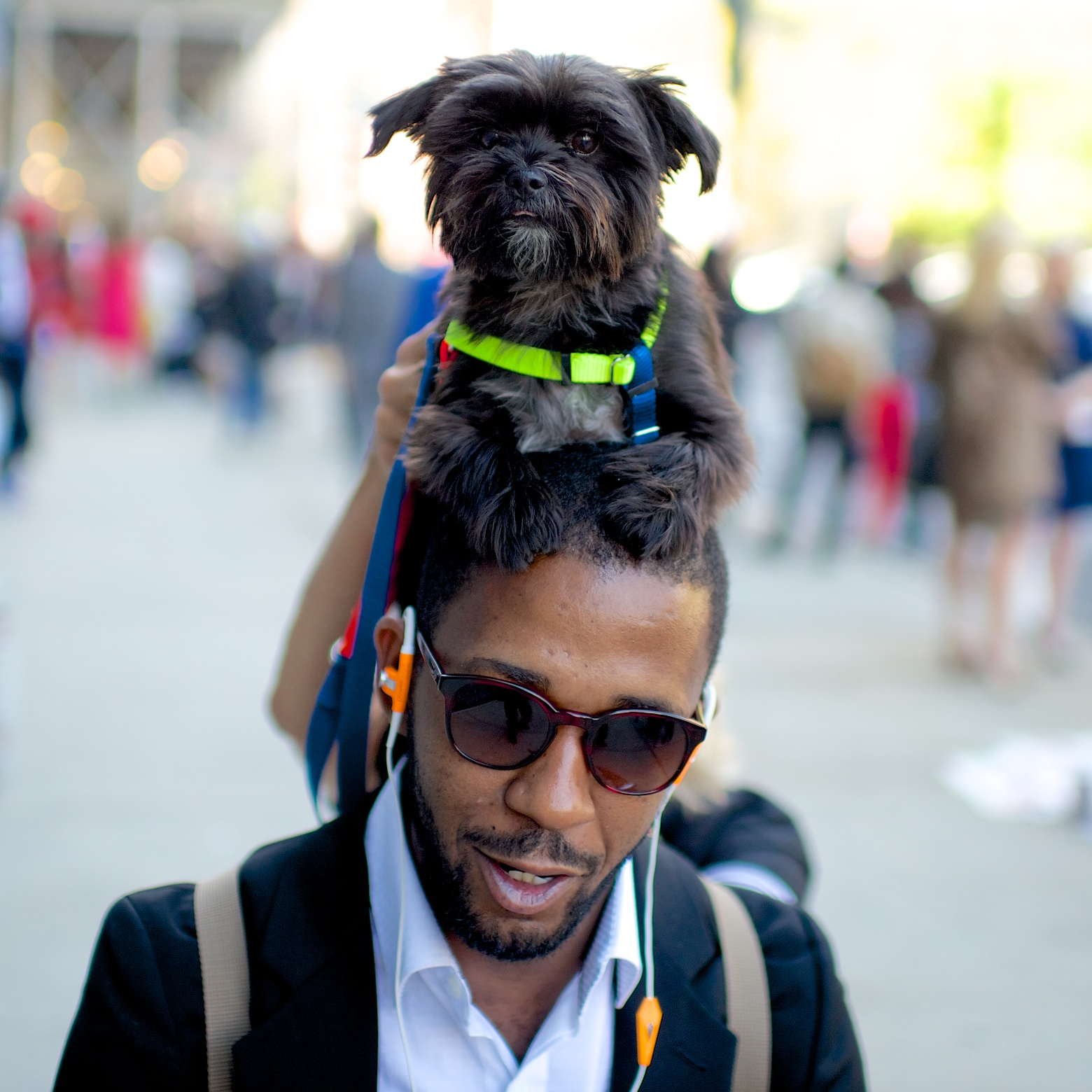 Ed Kavishe of Fashion Wire Press and Clair WARE OF THE DOG