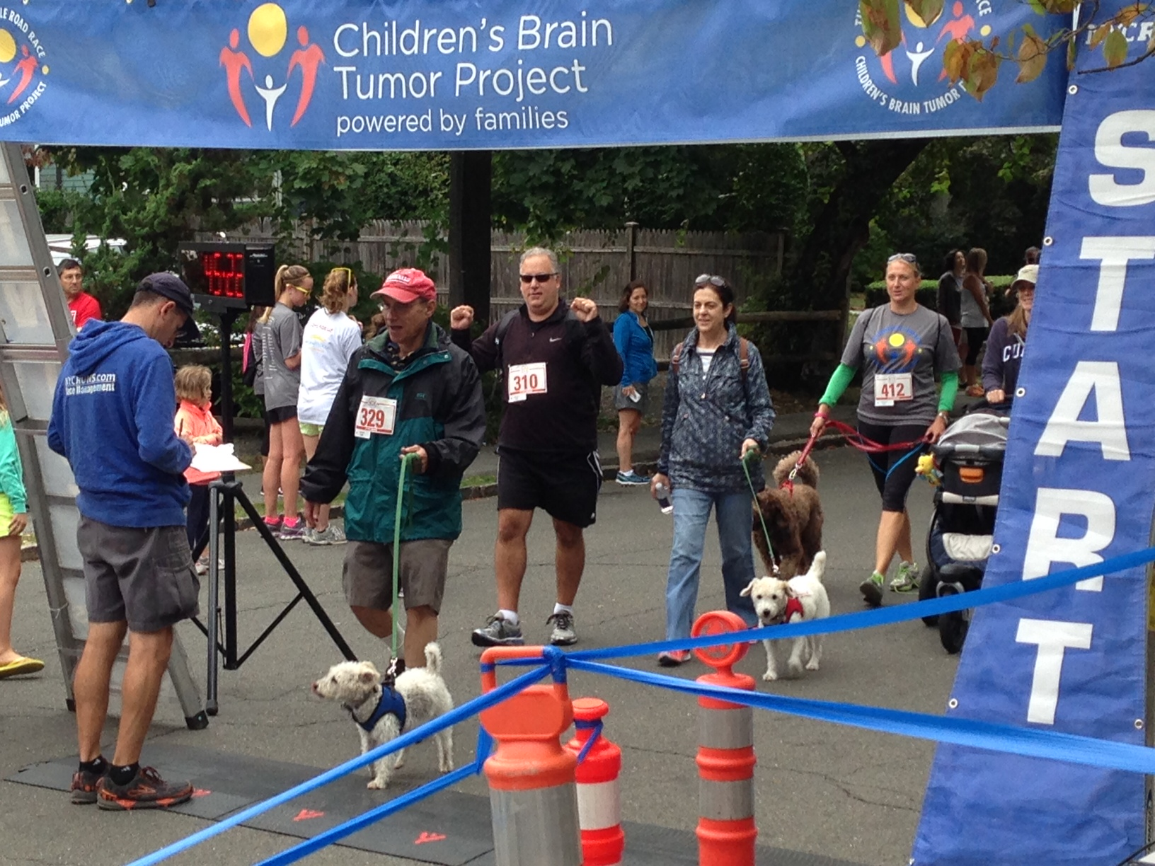 Rosie and Winks cross the finish line!
